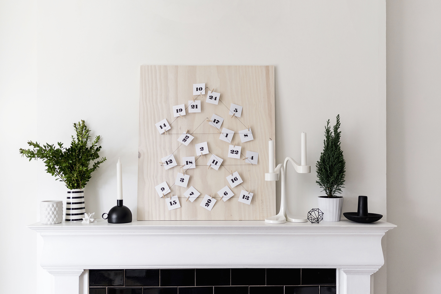 DIY Modern, Scandinavian Advent Calendar with Free ...