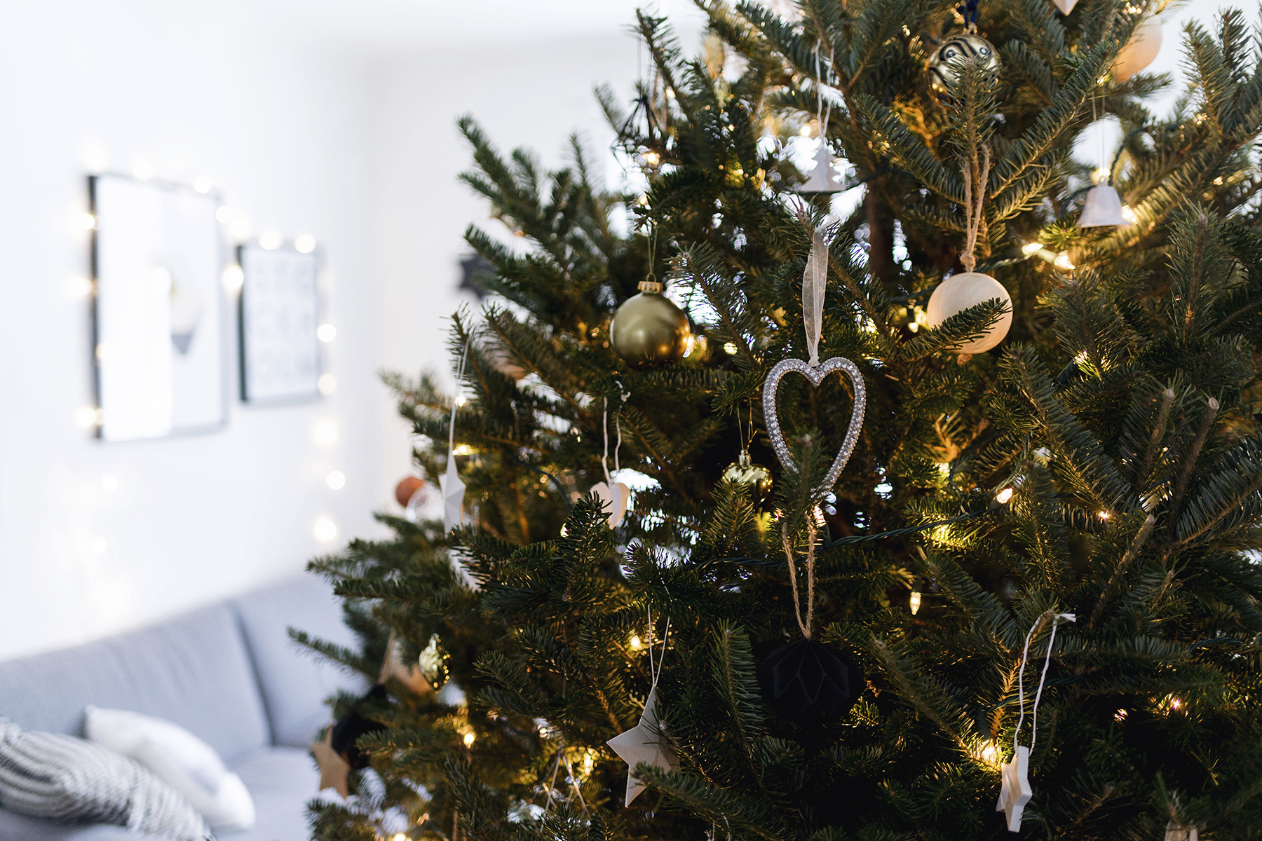 Scandinavian Christmas tree ornaments | Happy Grey Lucky