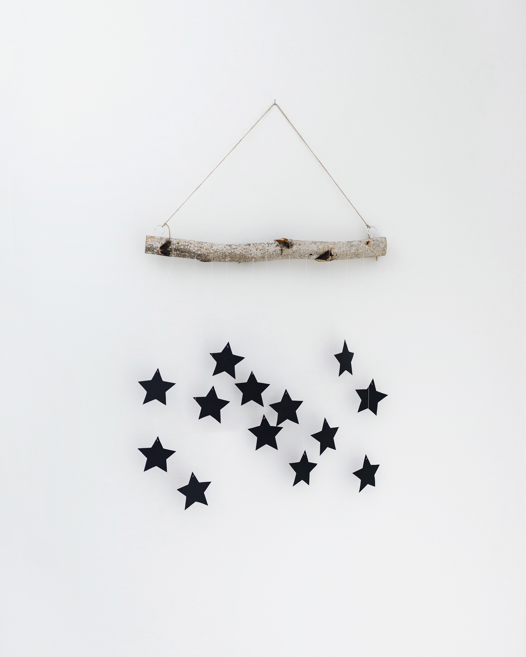 diy modern scandinavian christmas hanging wall decoration happy grey lucky