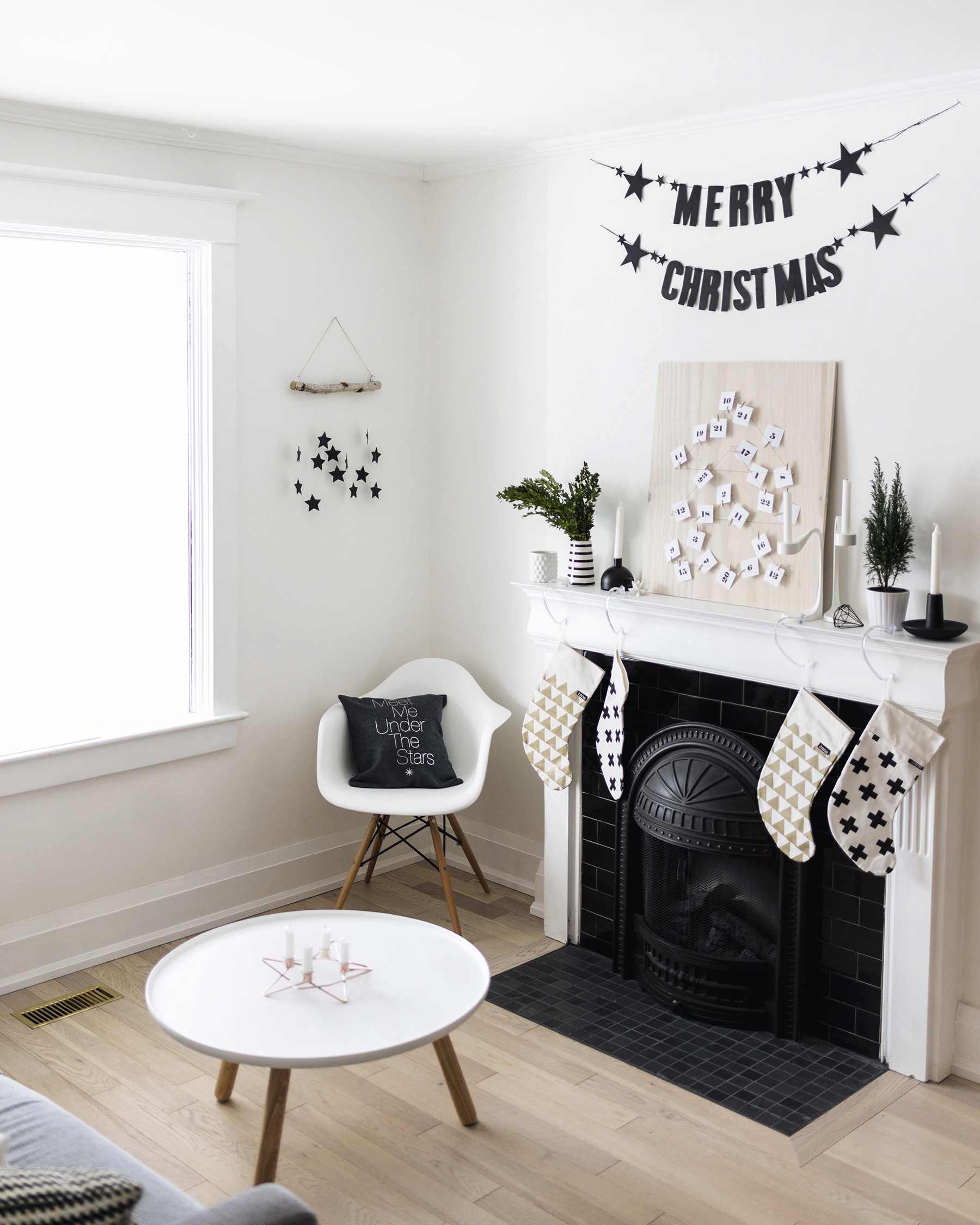Diy Modern Scandinavian Christmas Wall Hanging Happy Grey Lucky
