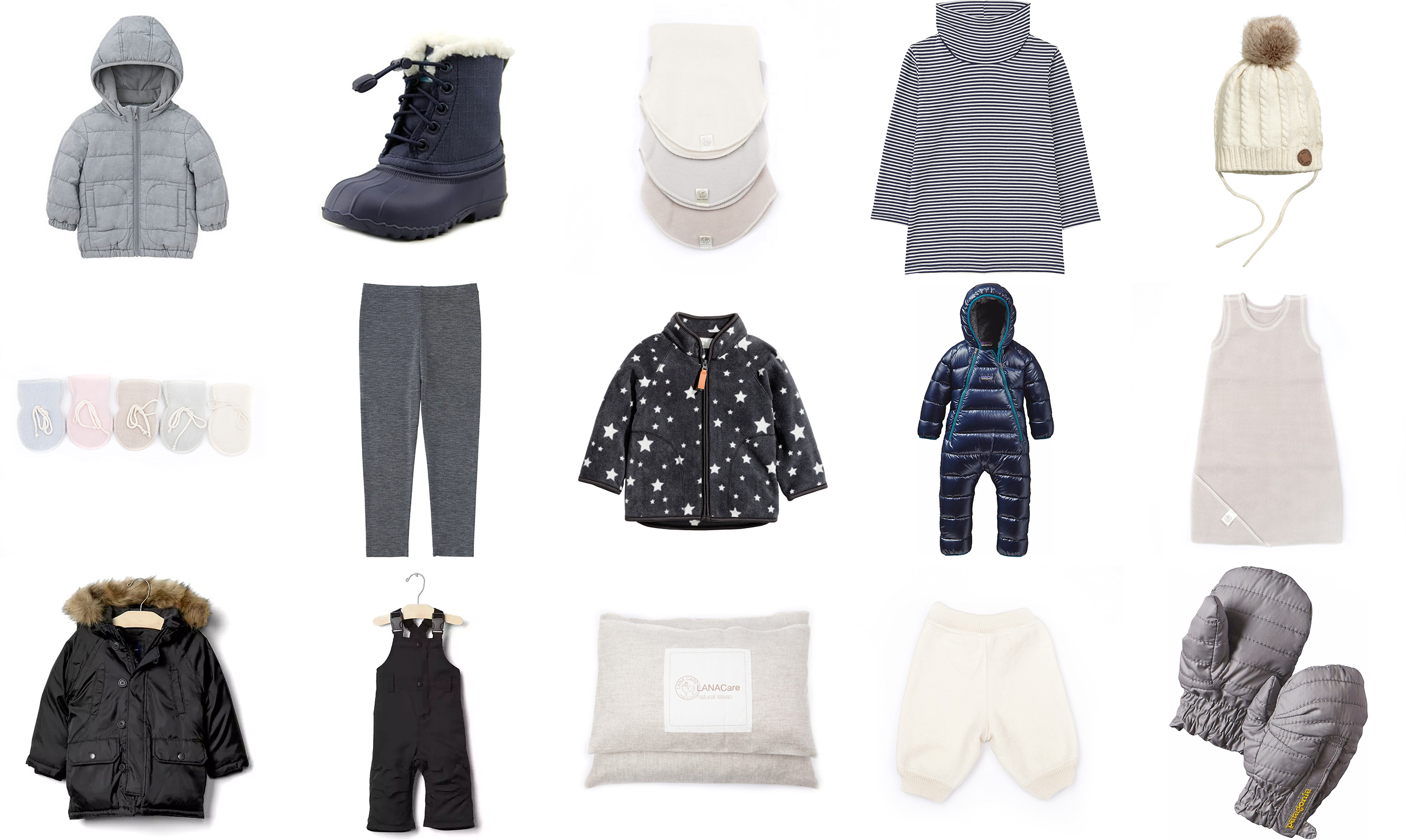 Cold weather essentials for babies, toddlers and pre-schoolers