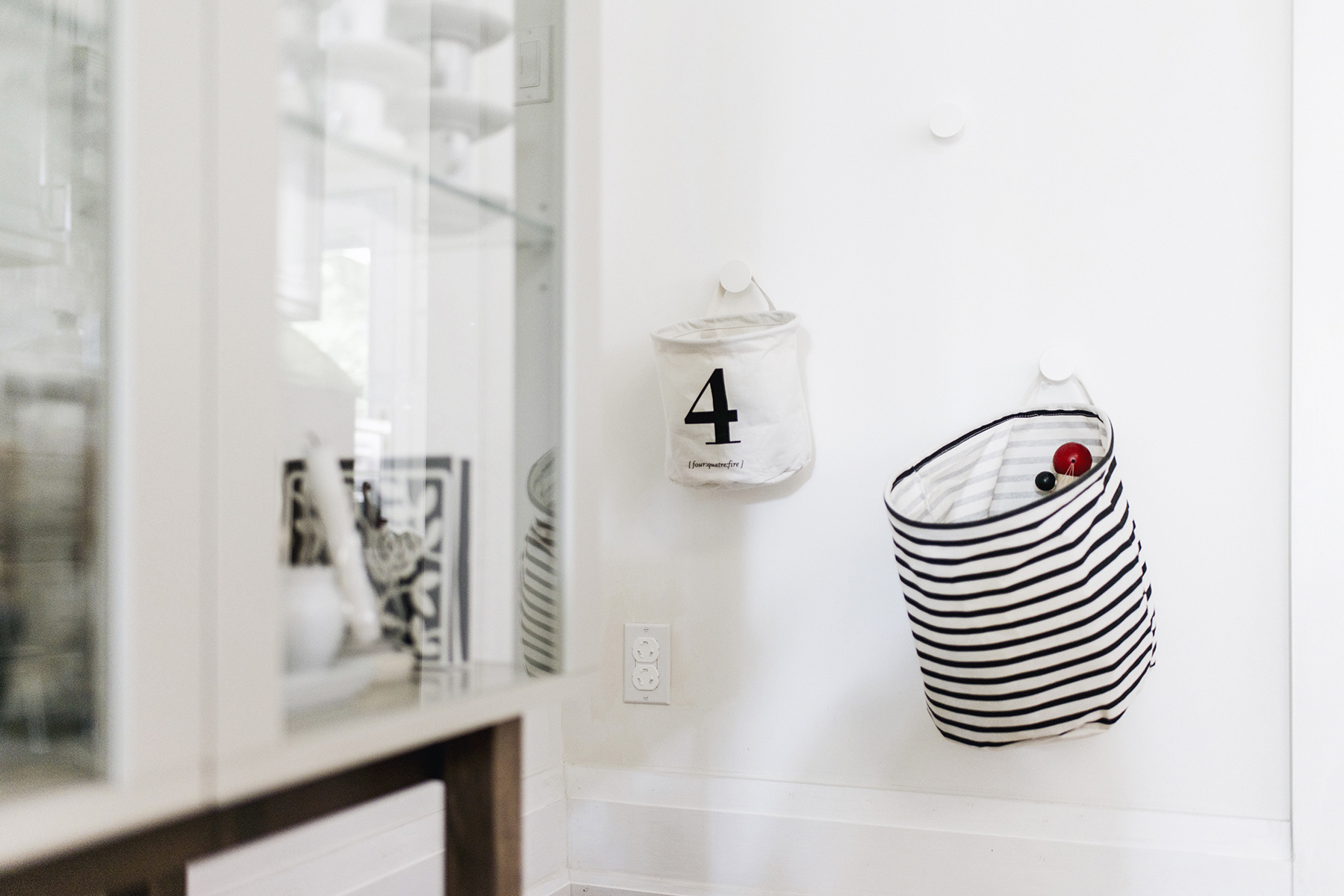 Scandinavian-inspired dining room - House Doctor toy storage | Happy Grey Lucky