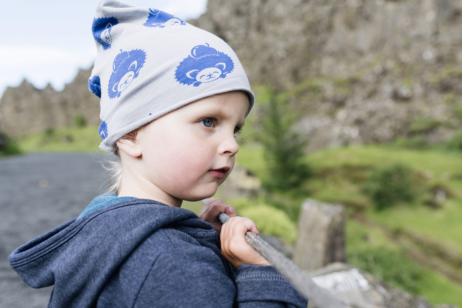 Toddler at Þingvellir National Park, Iceland Golden Circle self drive - family travel with young kids | Happy Grey Lucky