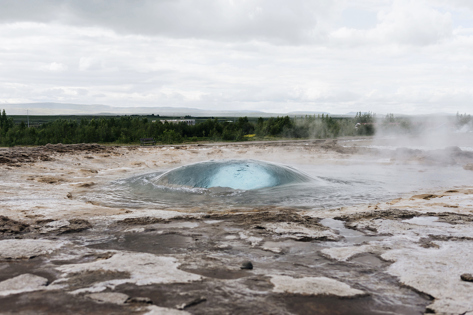 Stokkur Geysir, Iceland Golden Circle self drive with young kids - family travel with baby & toddler | Happy Grey Lucky