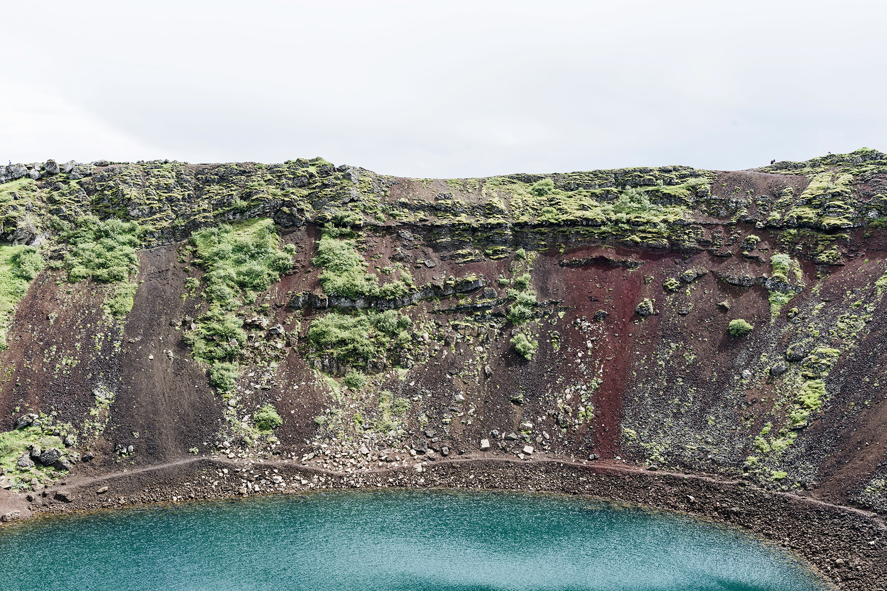 Kerið crater lake, Iceland Golden Circle self drive with young kids - family travel with baby & toddler | Happy Grey Lucky