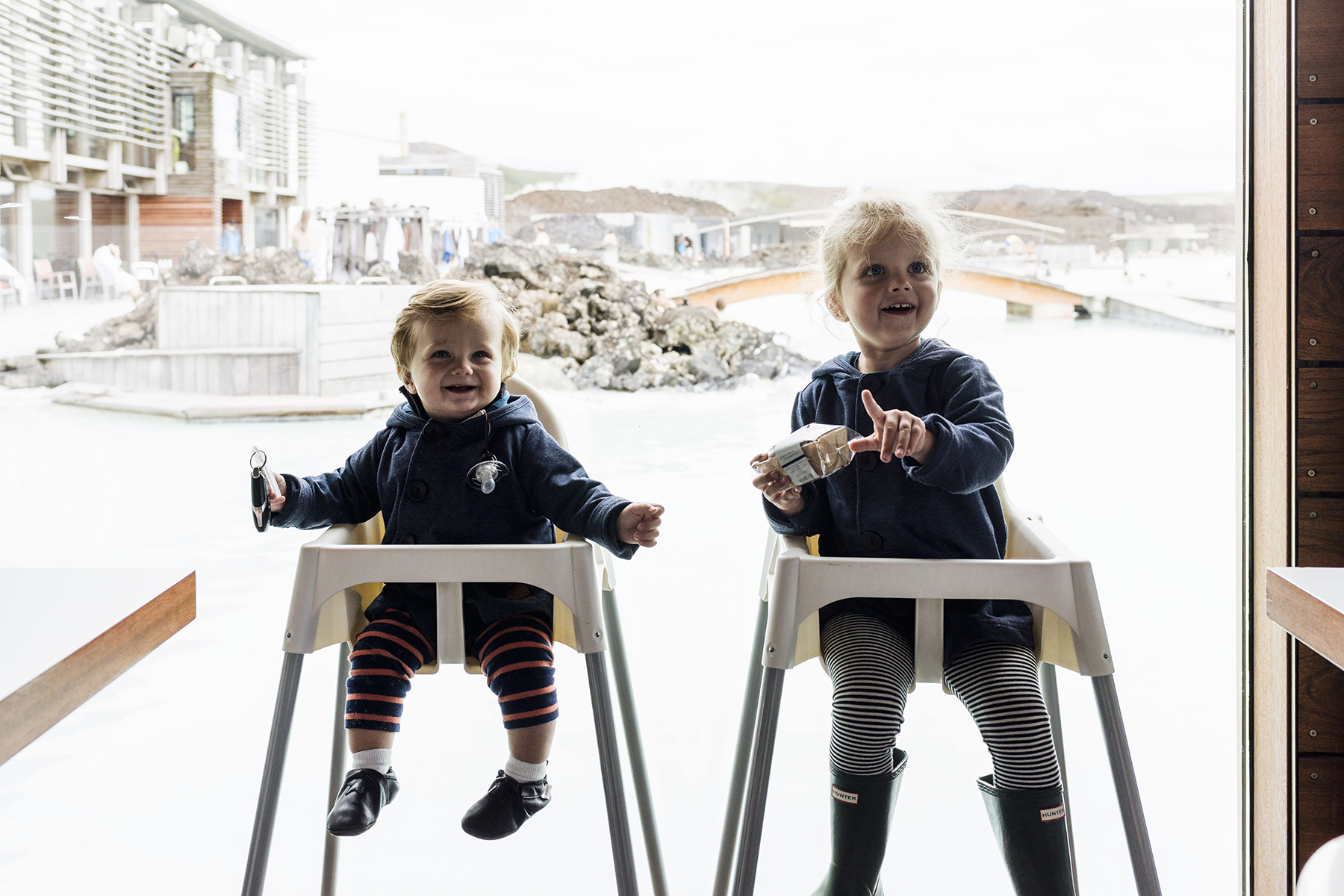 Blue Lagoon with young kids, Iceland Golden Circle self drive with young kids - family travel with baby & toddler | Happy Grey Lucky