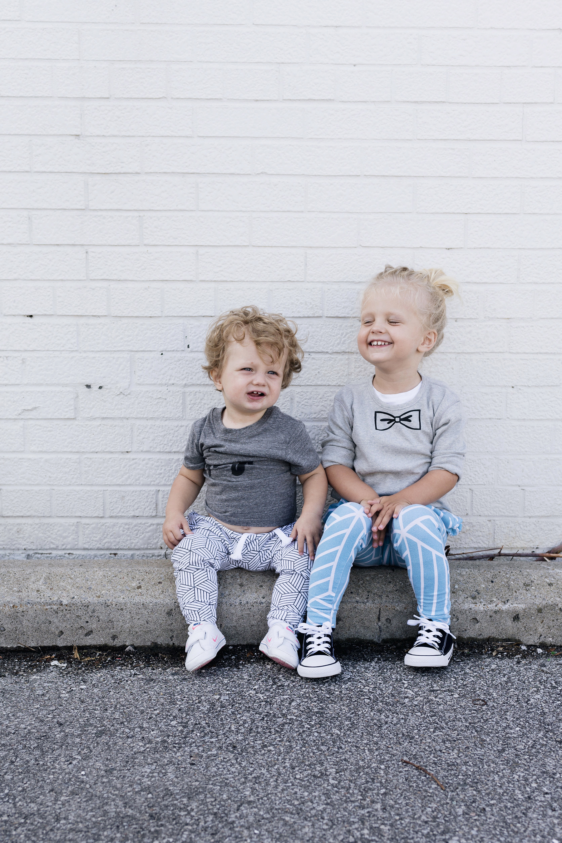 Joggers for toddler + baby - sibling style | Happy Grey Lucky