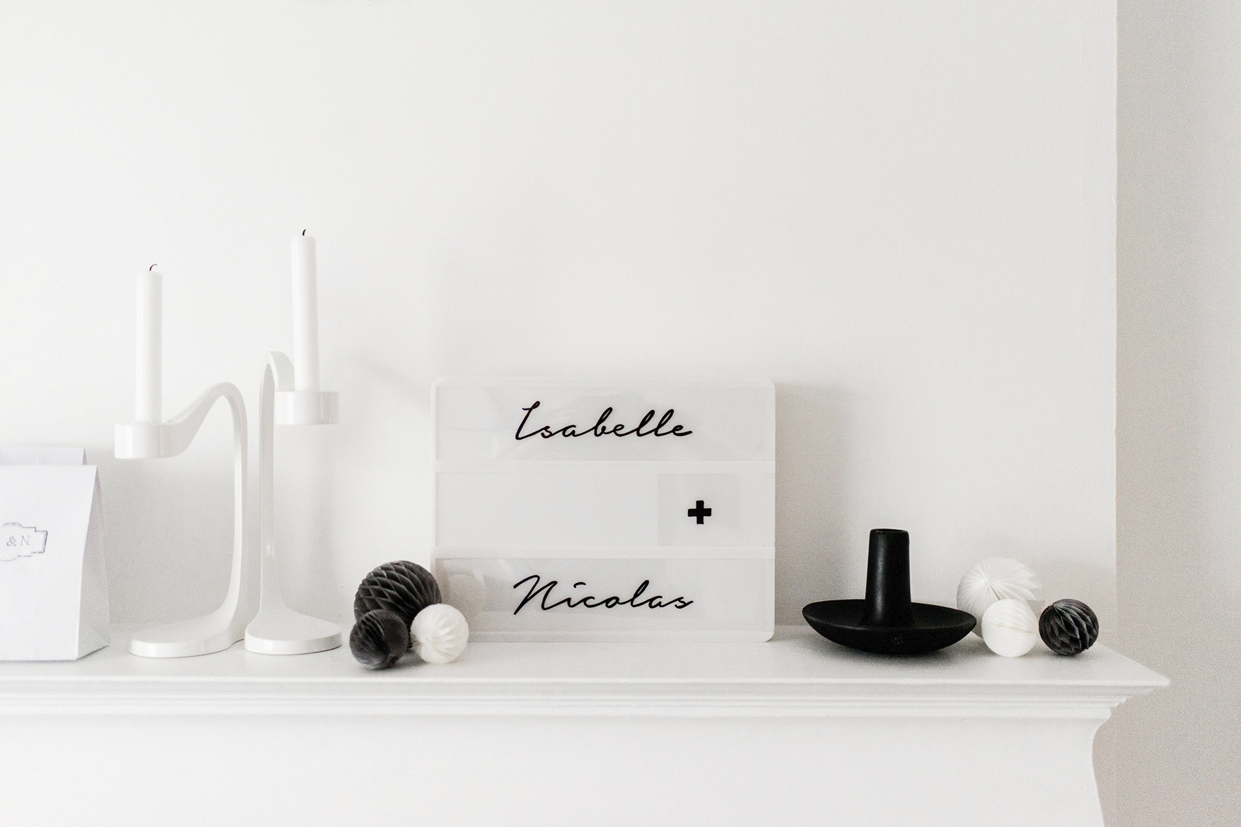 Kids birthday party, black + white / monochrome, first birthday | Happy Grey Lucky