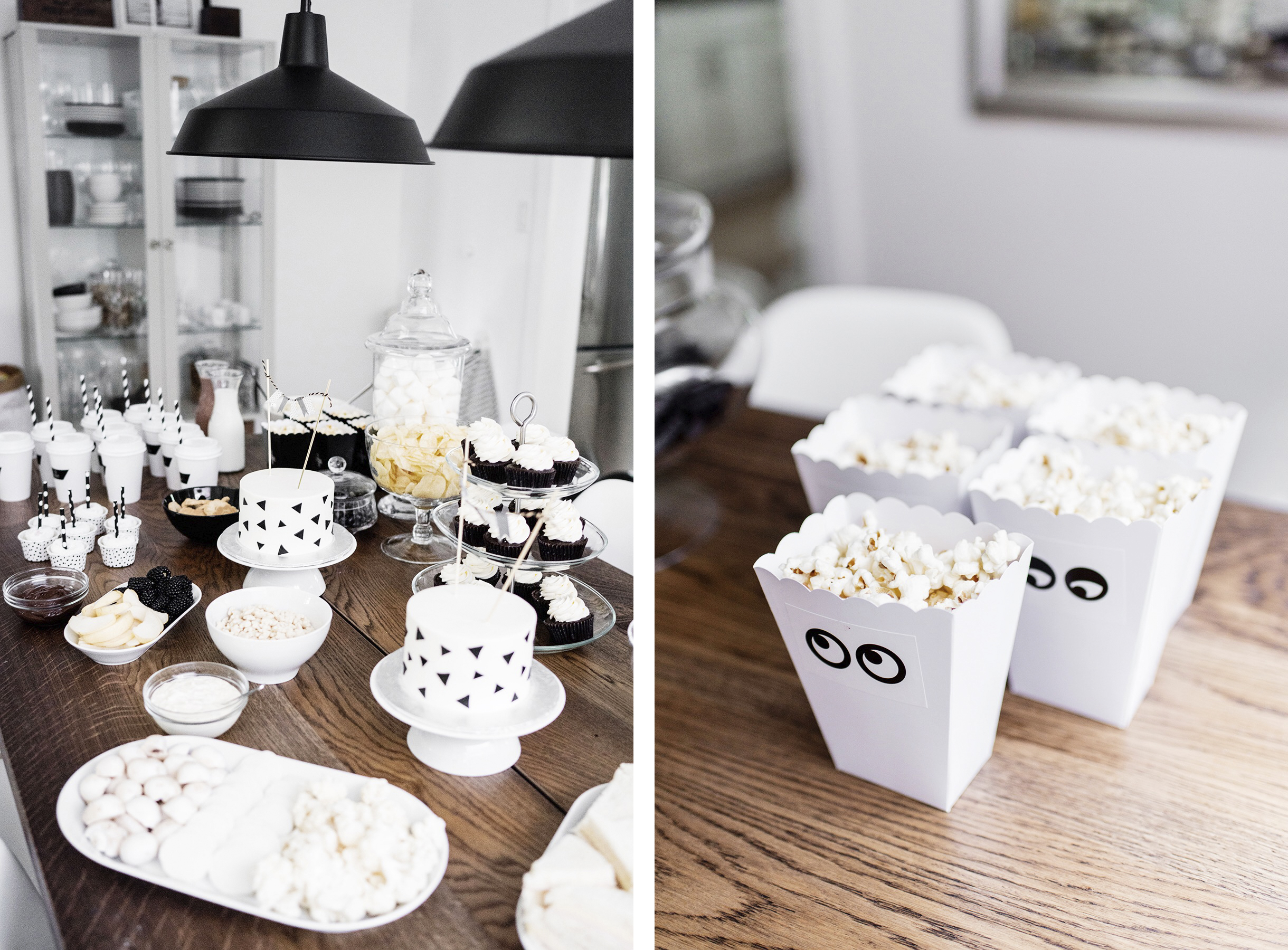 Monochrome kids birthday party | Happy Grey Lucky