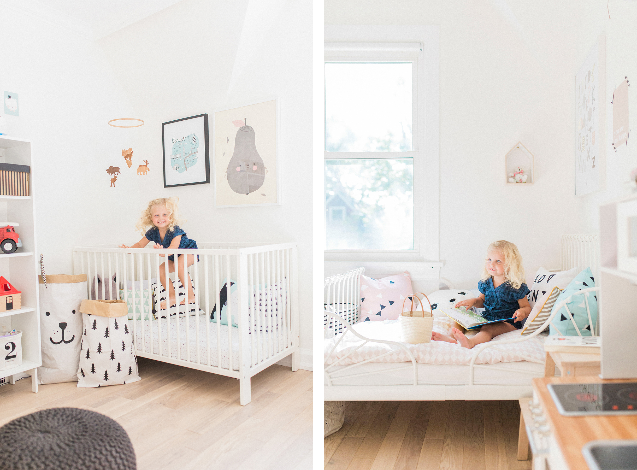 A Modern Pastel Shared Baby And Toddler Room Happy Grey