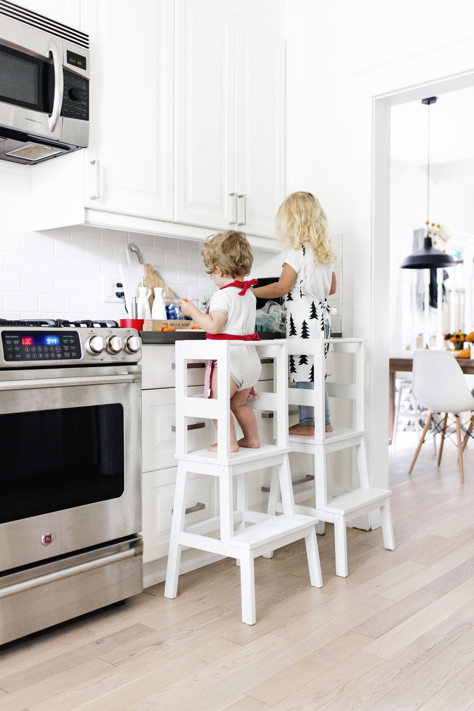 Inspired Kitchen Design Ikea Hack Toddler Learning Tower Stool Happy Grey Lucky
