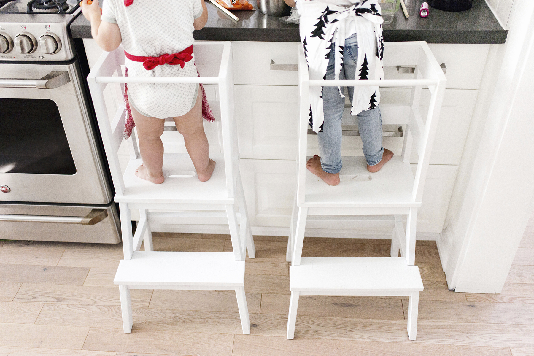 Ikea Hack Toddler Learning Tower Stool Happy Grey Lucky