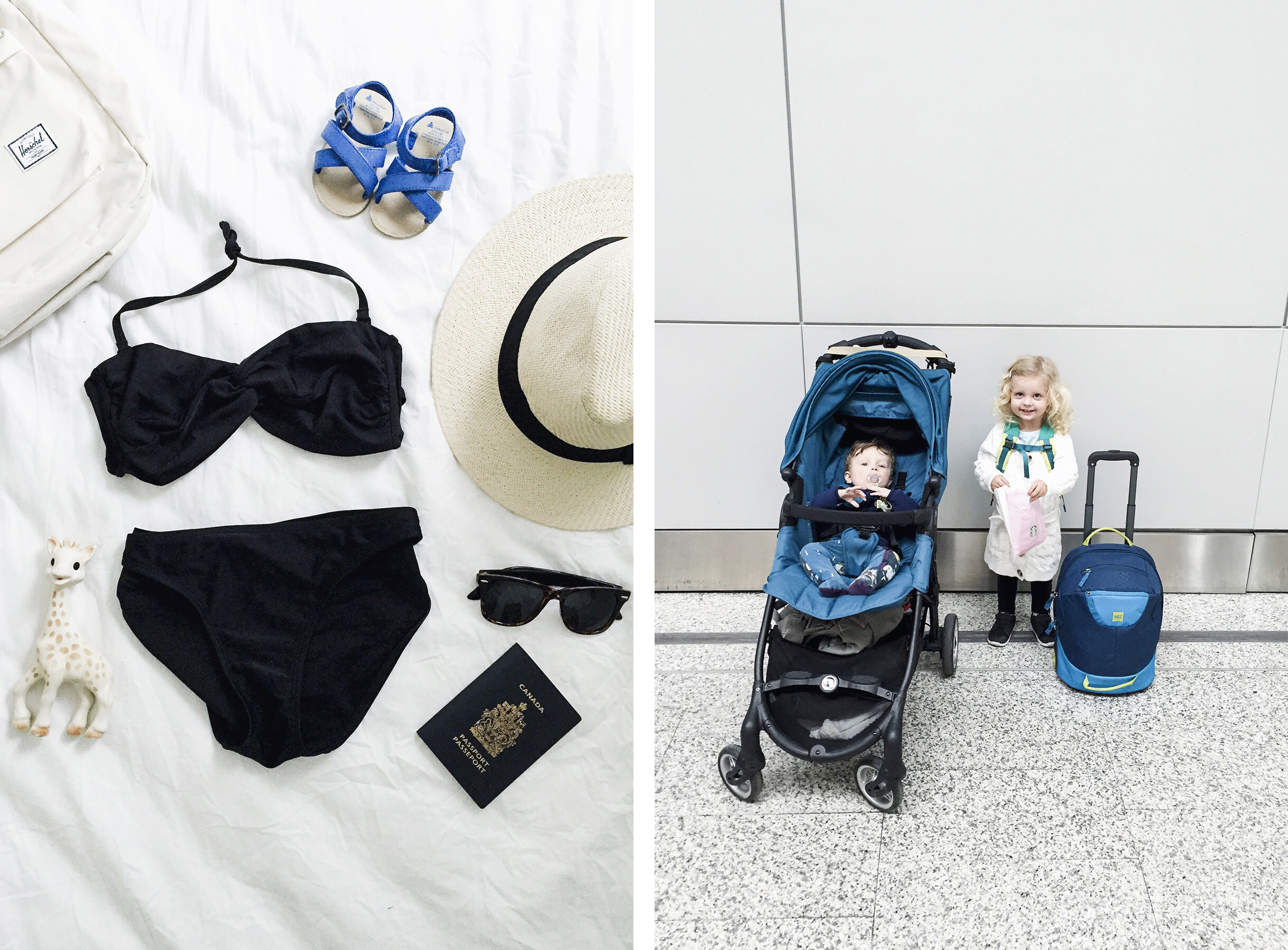 Packing & airport, family travel with baby & toddler | Happy Grey Lucky
