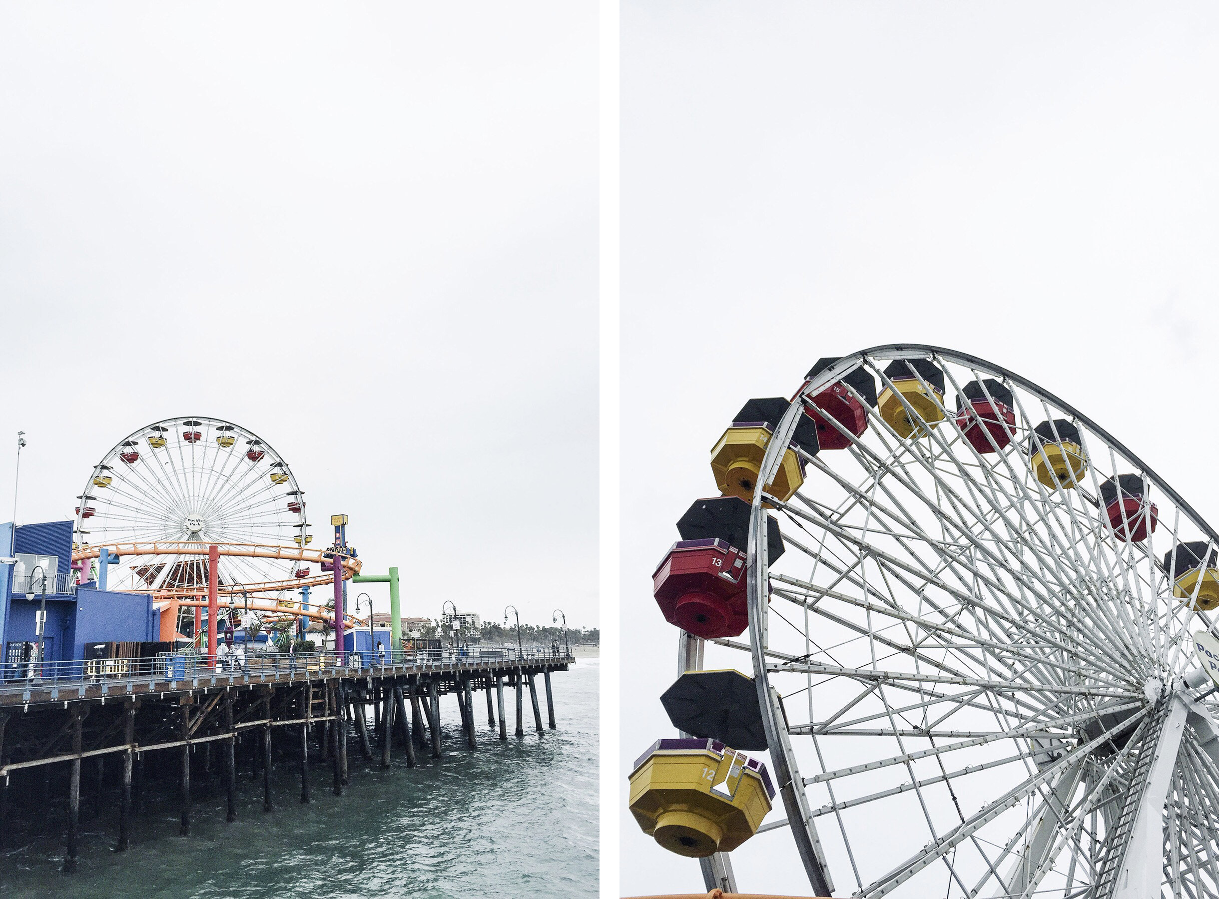 Santa Monica Pier, Los Angeles family travel with baby & toddler | Happy Grey Lucky
