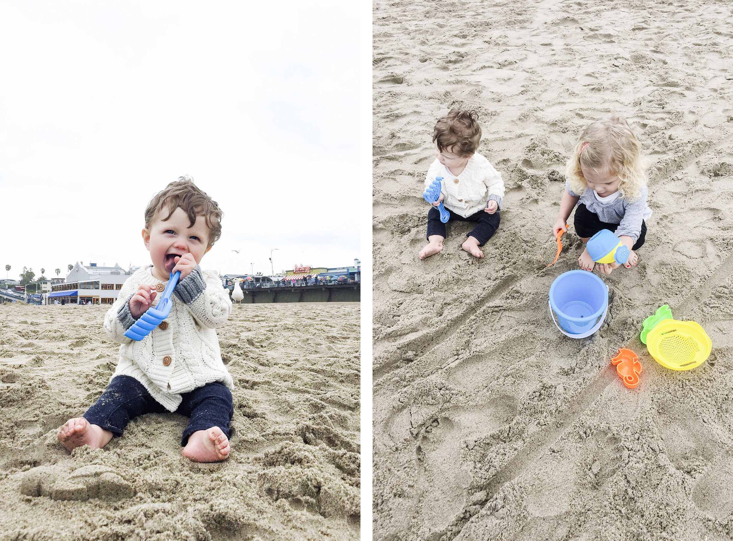 Santa Monica beach, Los Angeles family travel with baby & toddler | Happy Grey Lucky