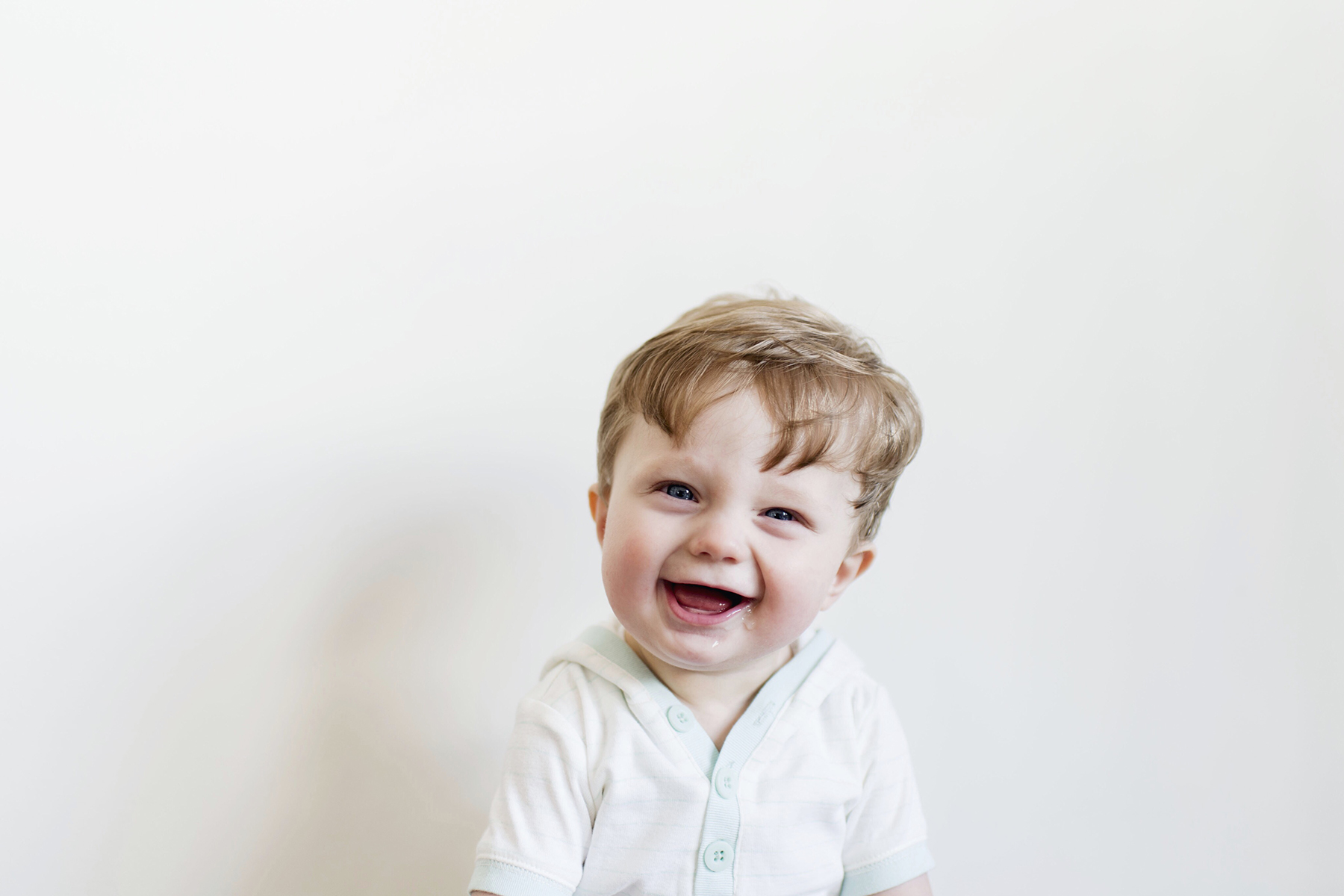 Happy 8-month-old baby boy | Happy Grey Lucky