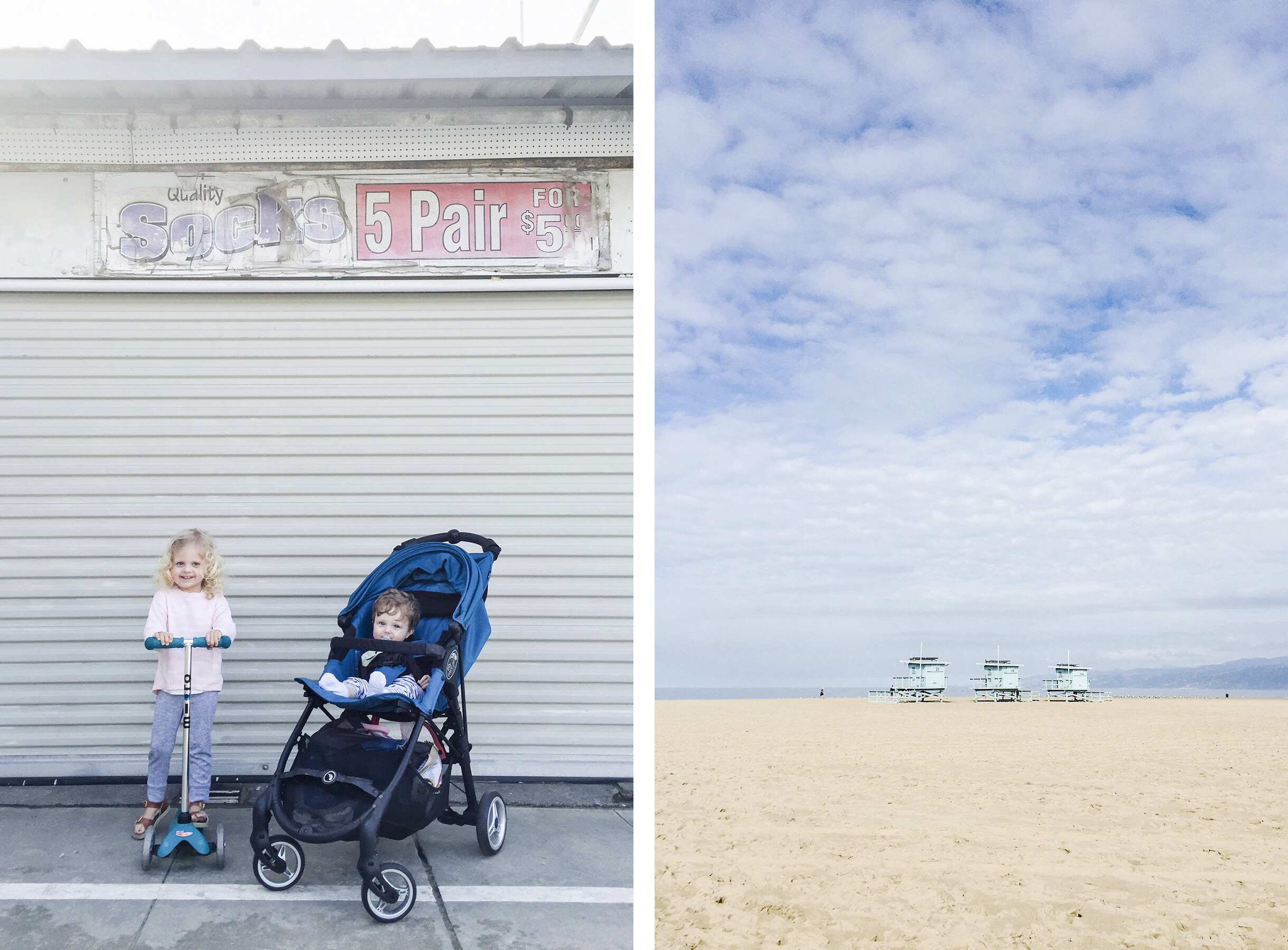Venice Beach, Los Angeles family travel with baby & toddler | Happy Grey Lucky