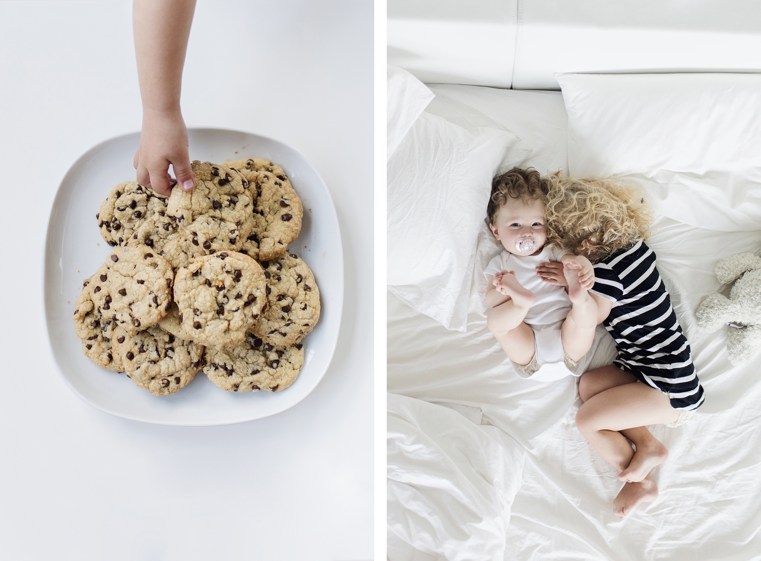 Homemade cookies, solo travel with a baby & toddler | Happy Grey Lucky