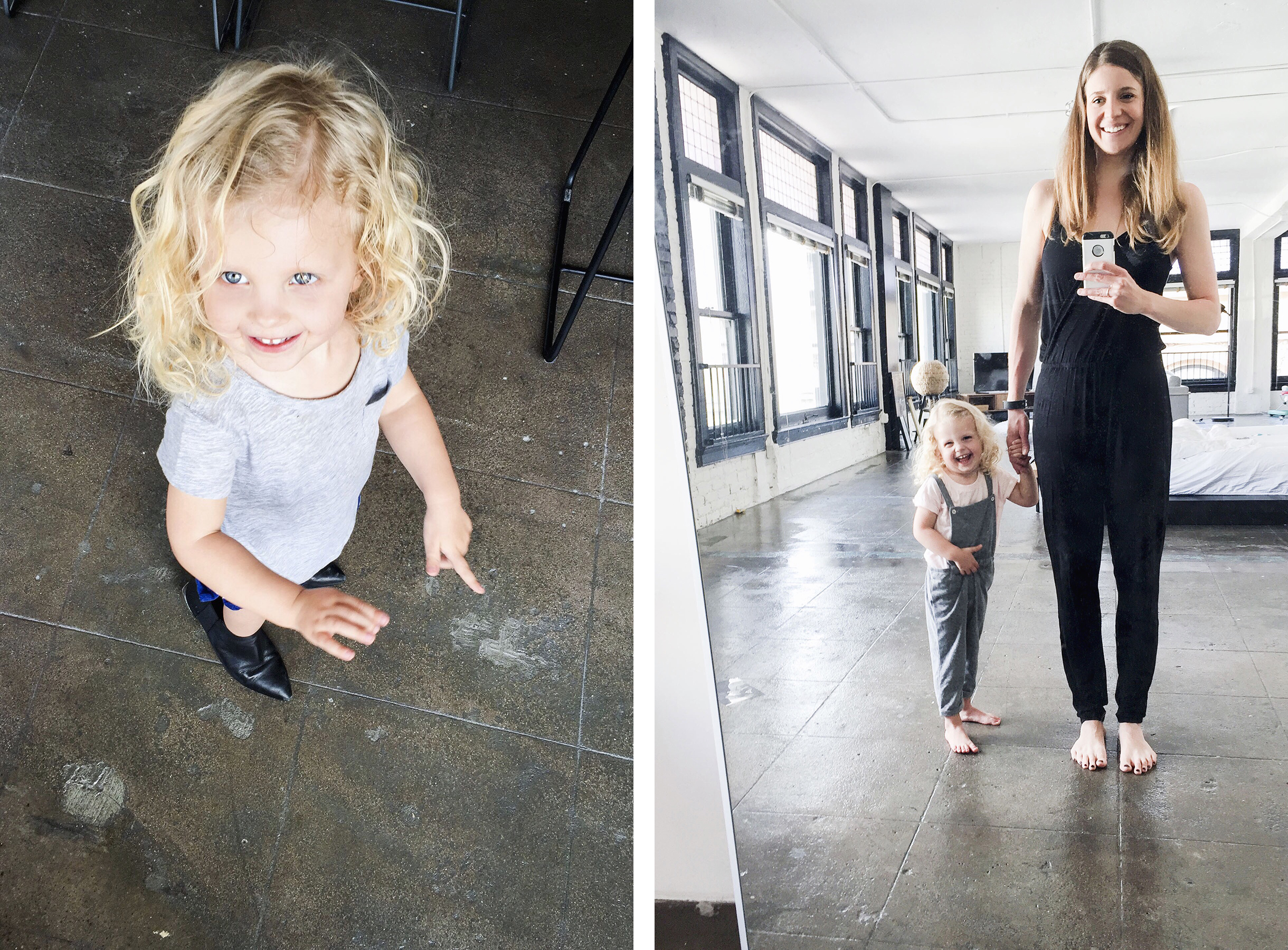 Trying on mom's shoes, solo travel with a baby & toddler | Happy Grey Lucky