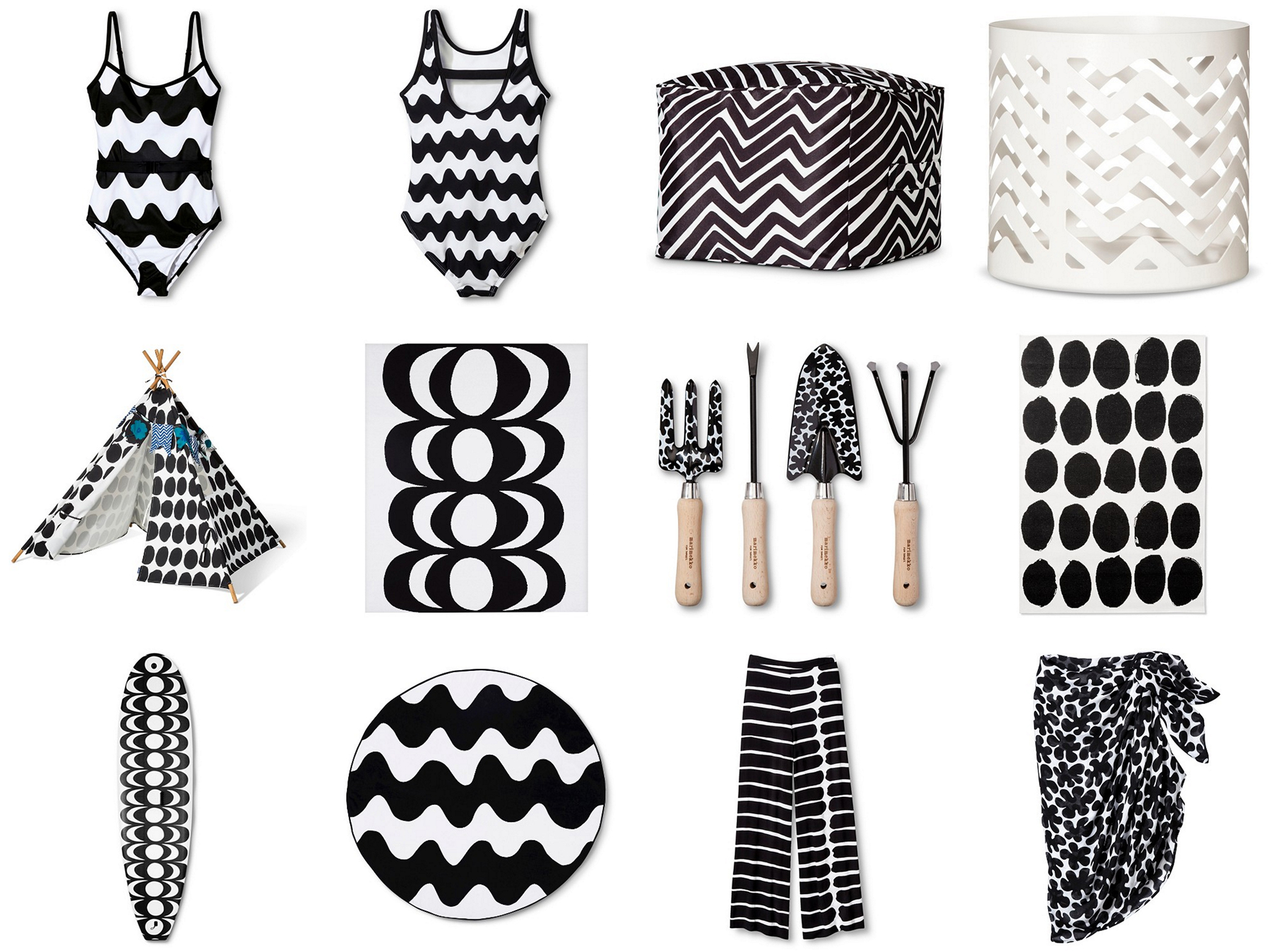 Marimekko for Target black & white collection | Happy Grey Lucky