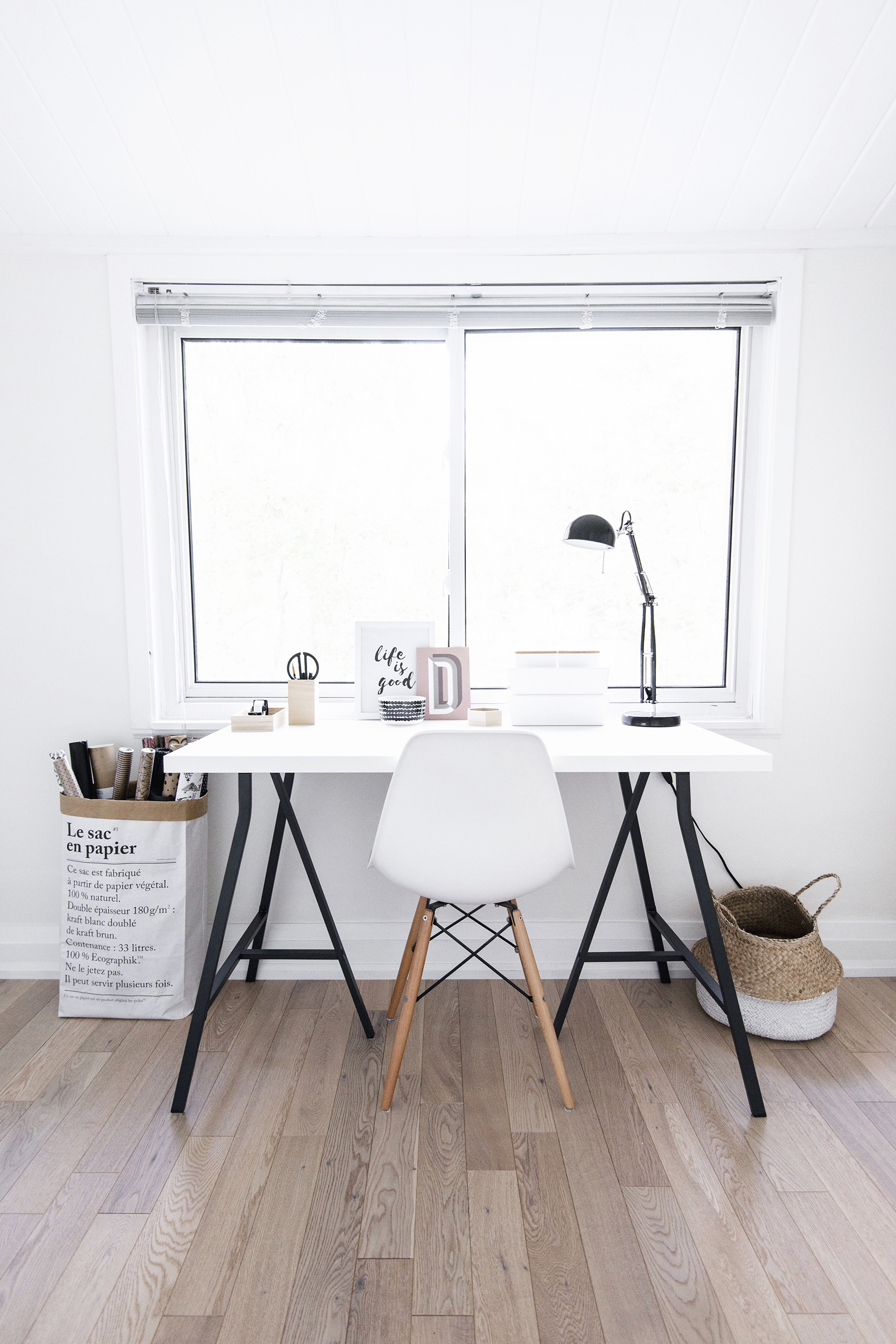 Scandinavian Office White House Tour Small Scandinavianinspired Office Happy Grey Lucky House Tour Small Scandinavianinspired Office Happy Grey Lucky