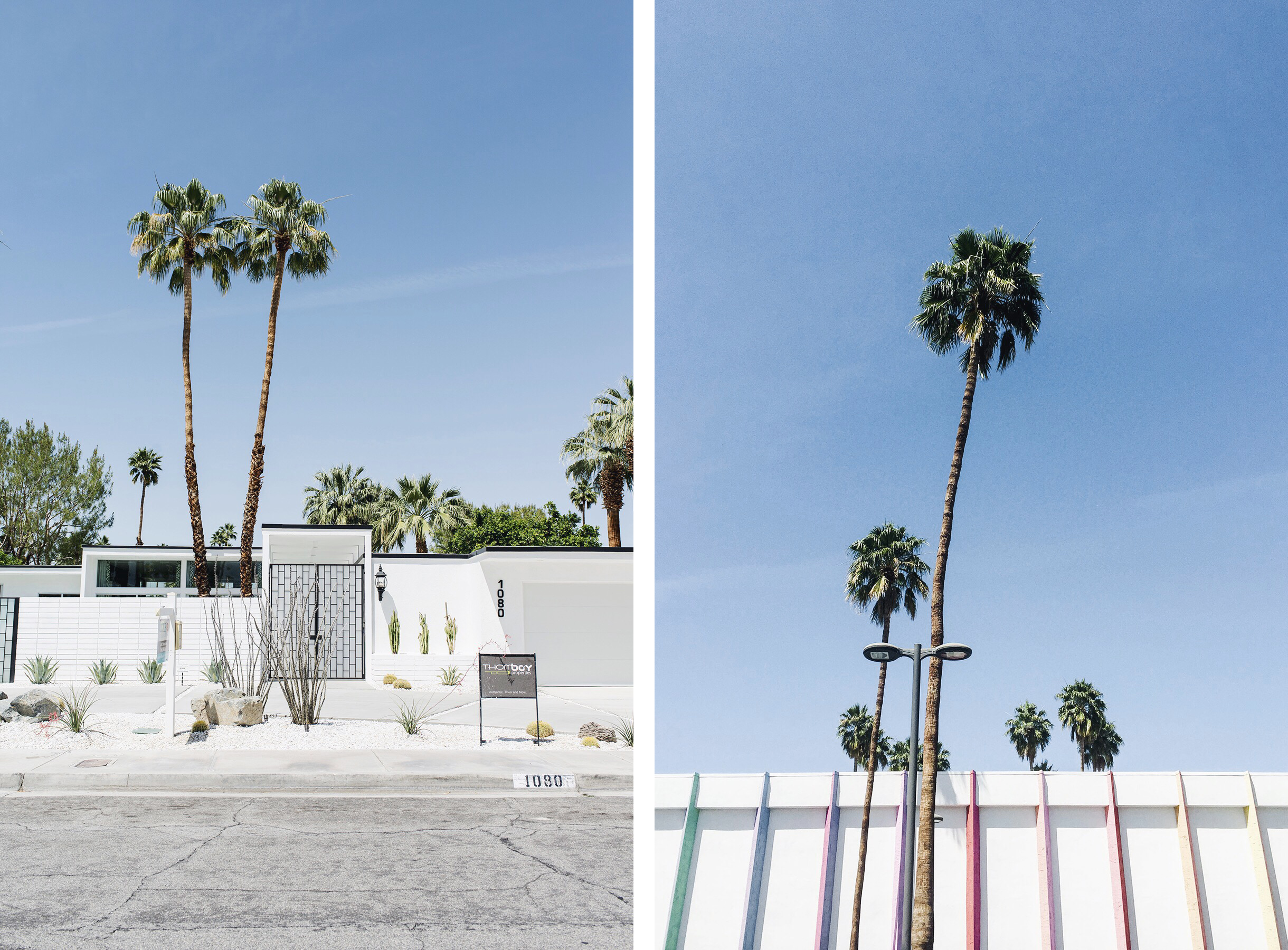 Palm Springs mid-century modern architecture, California family travel with baby & toddler | Happy Grey Lucky