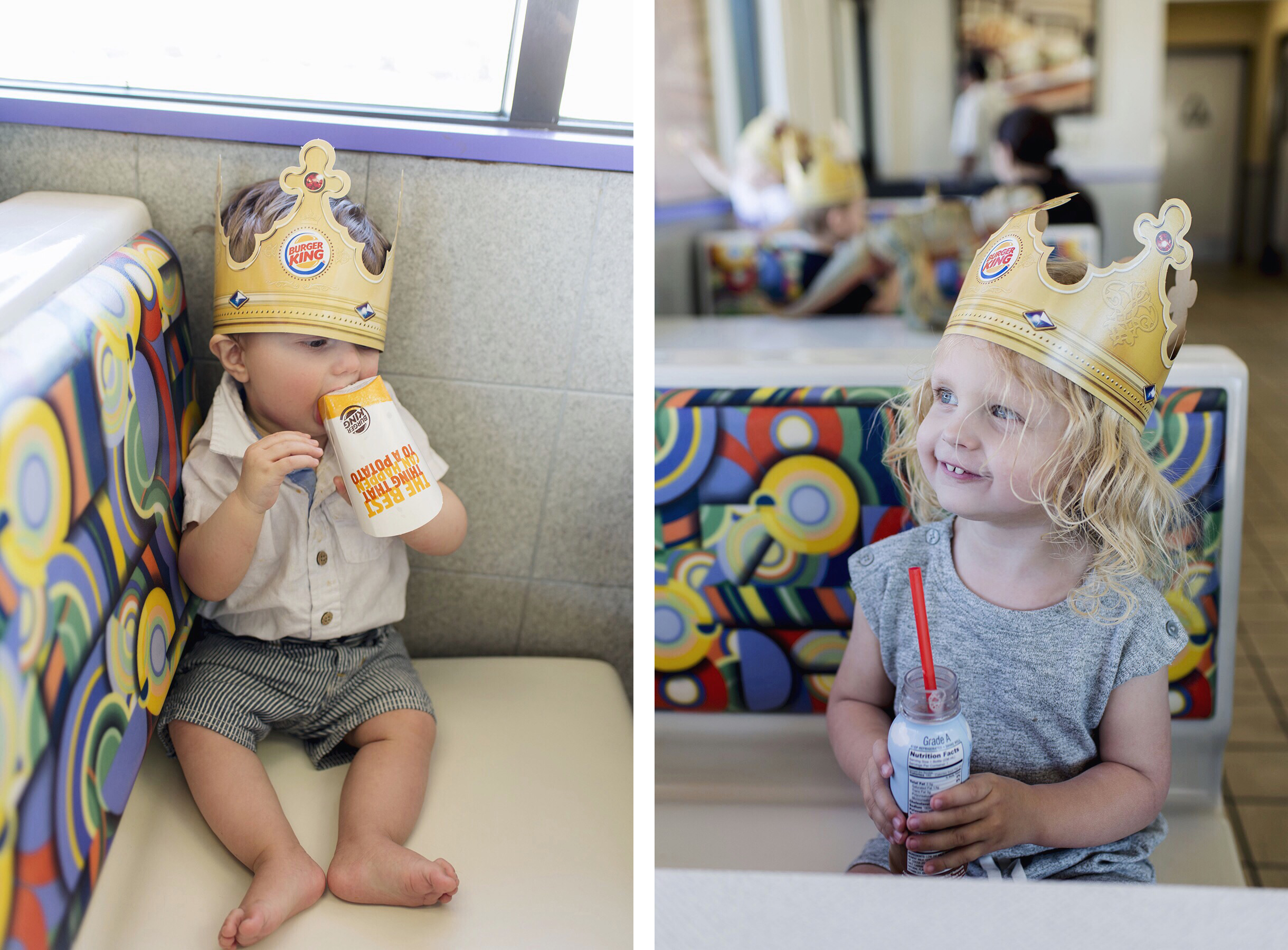 Burger King with young kids, Palm Springs California family travel with baby & toddler | Happy Grey Lucky