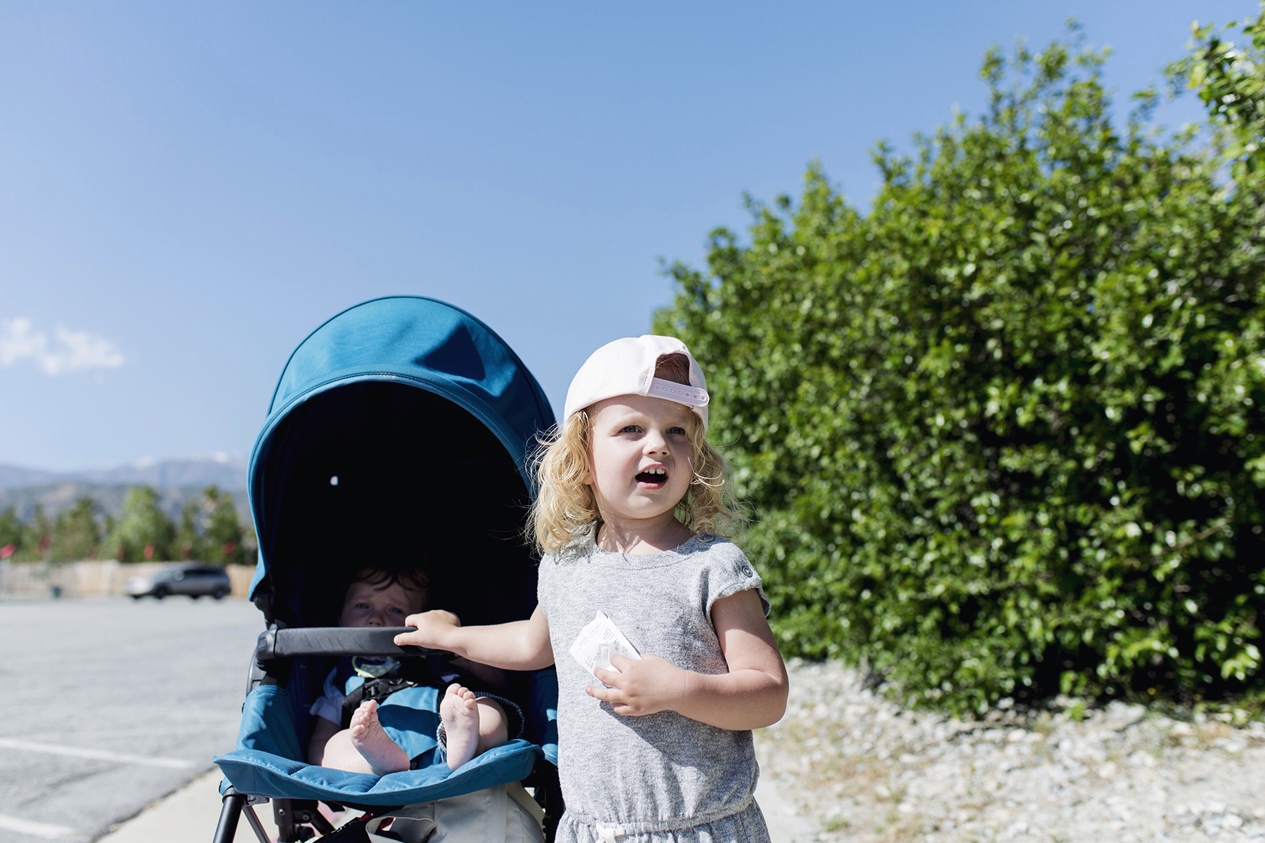 Cabazon Dinosaurs Palm Springs, California family travel with baby & toddler   Happy Grey Lucky