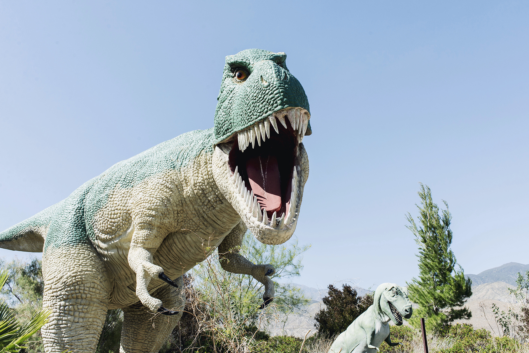 Cabazon Dinosaurs Palm Springs, California family travel with baby & toddler | Happy Grey Lucky