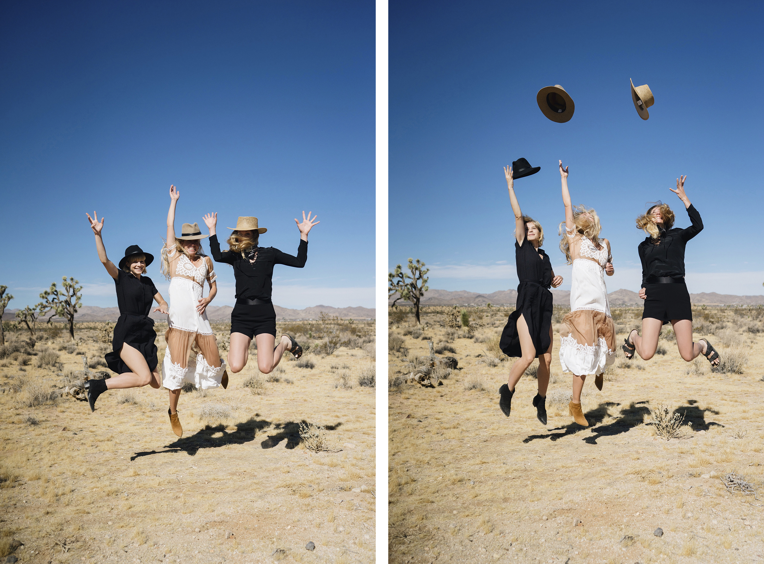 Sisters Fashion Shoot in Joshua Tree, Mojave Desert | Sisters Trip to California | Happy Grey Lucky