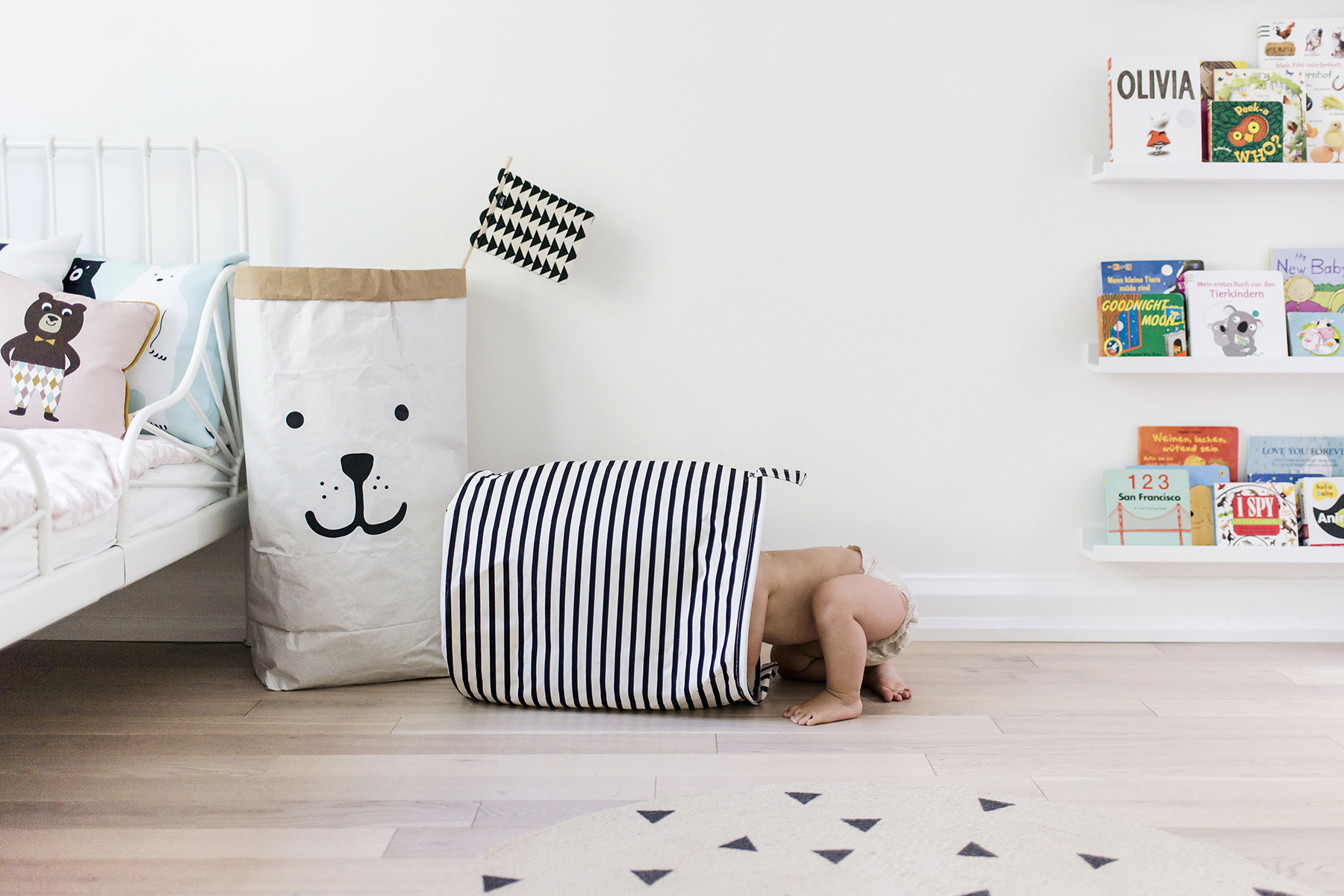 Modern Scandinavian toy storage - House Doctor, Tellkiddo | Happy Grey Lucky