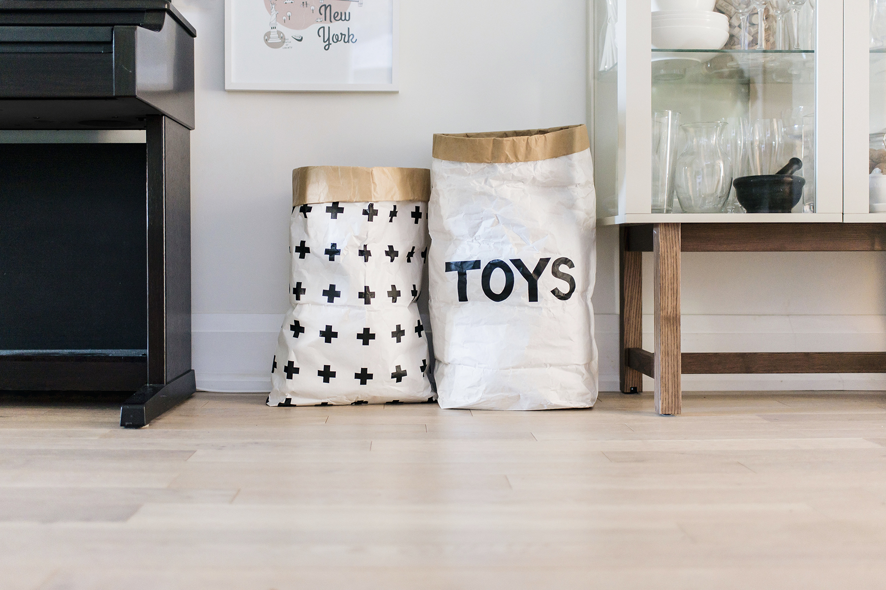 Modern Scandinavian toy storage - Tellkiddo, Grida Studio on Etsy | Happy Grey Lucky