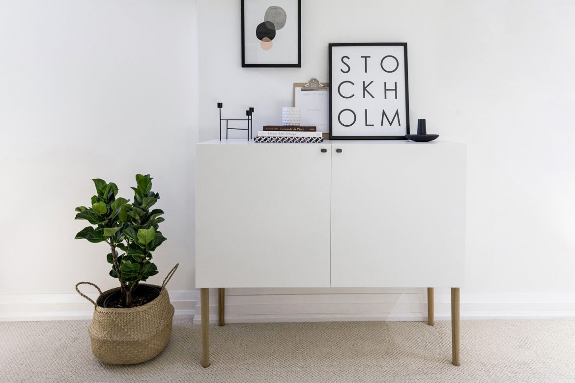 Ikea Besta hack - Scandinavian sideboard cabinet | Tutorial by Happy Grey Lucky