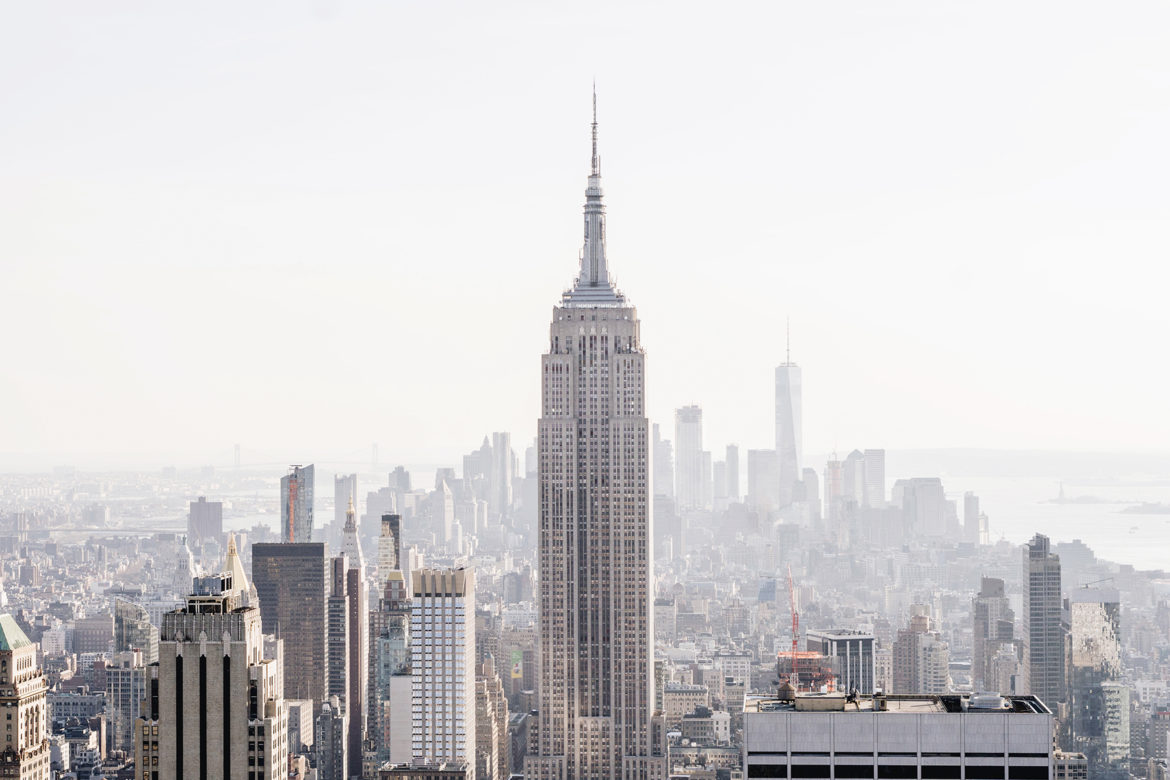 Top of the Rock view of the Empire State Building - Top 10 things to do in NYC with young kids