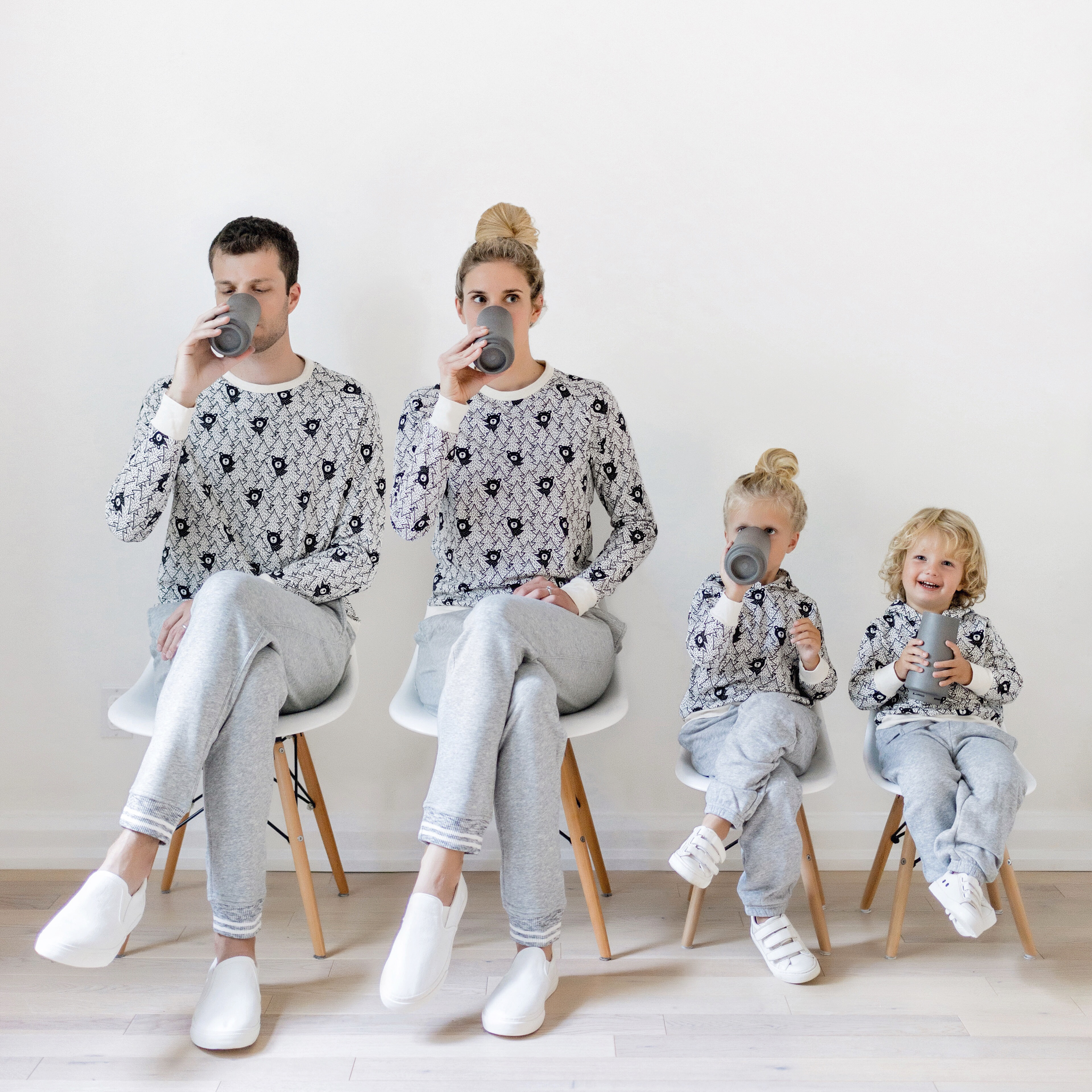 Favourite Matching Outfits for the Whole Family  Happy Grey Lucky