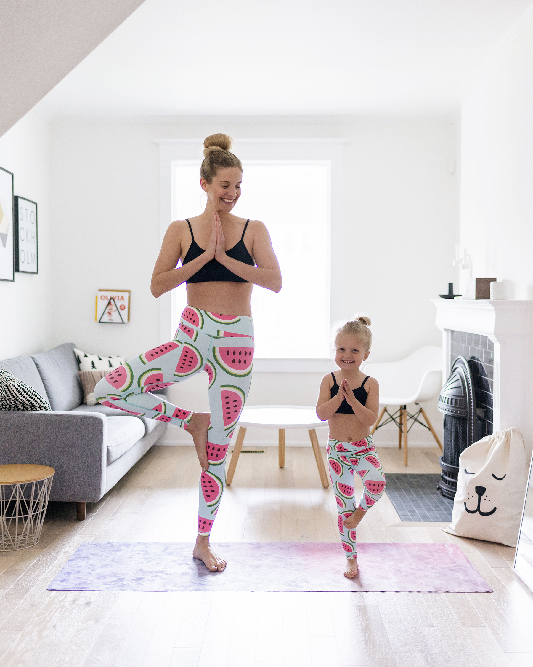 5 tips for staying active with young kids | Flexi Lexi mother daughter yoga leggings
