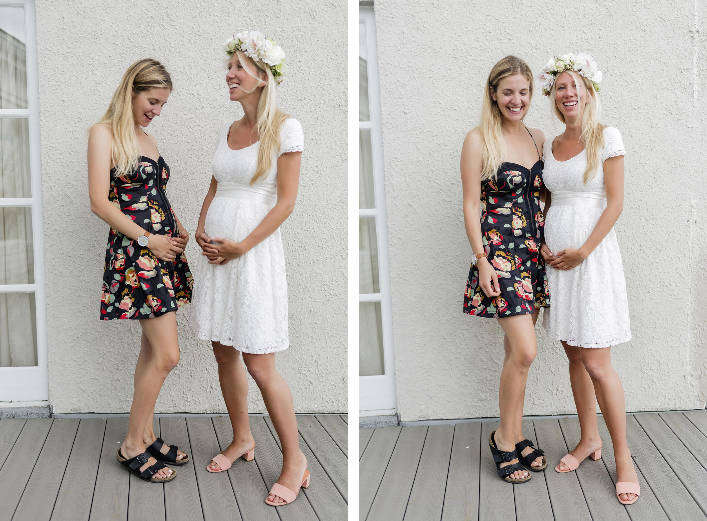 Maternity photoshoot | A wild + boho baby shower with pastel colours + rustic details