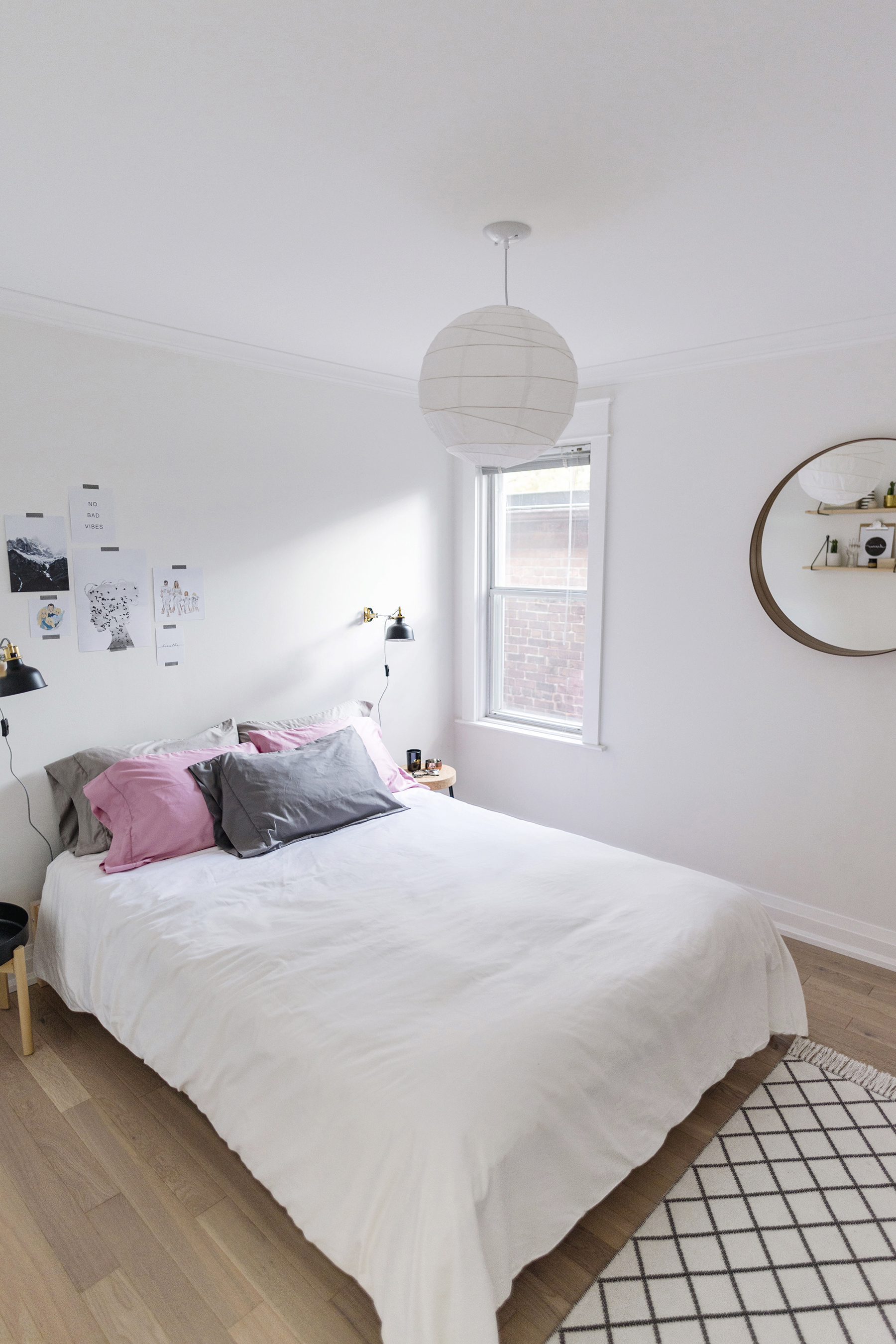 Scandinavian Bedroom Furniture. Modern  Scandinavian inspired bedroom white grey pink A Inspired Bedroom Happy Grey Lucky