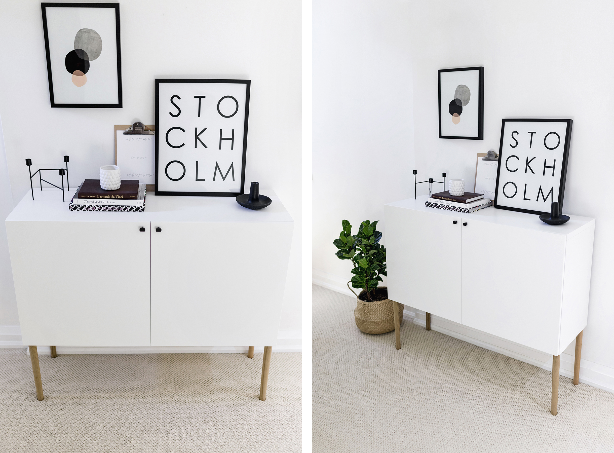Amazing Ikea Besta Hack   Scandinavian Sideboard Cabinet | Tutorial By Happy Grey  Lucky ...