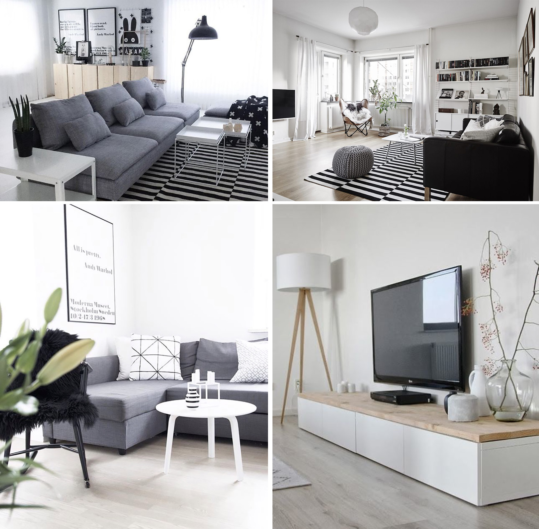 Scandinavian family room inspiration - a combined TV and playroom | Happy Grey Lucky