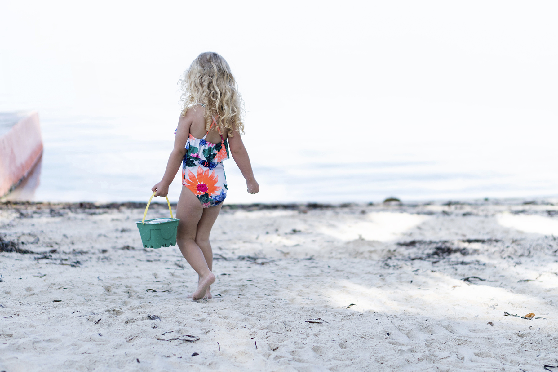 Little girl playing on the beach in Florida Key Largo - Five Things | Happy Grey Lucky