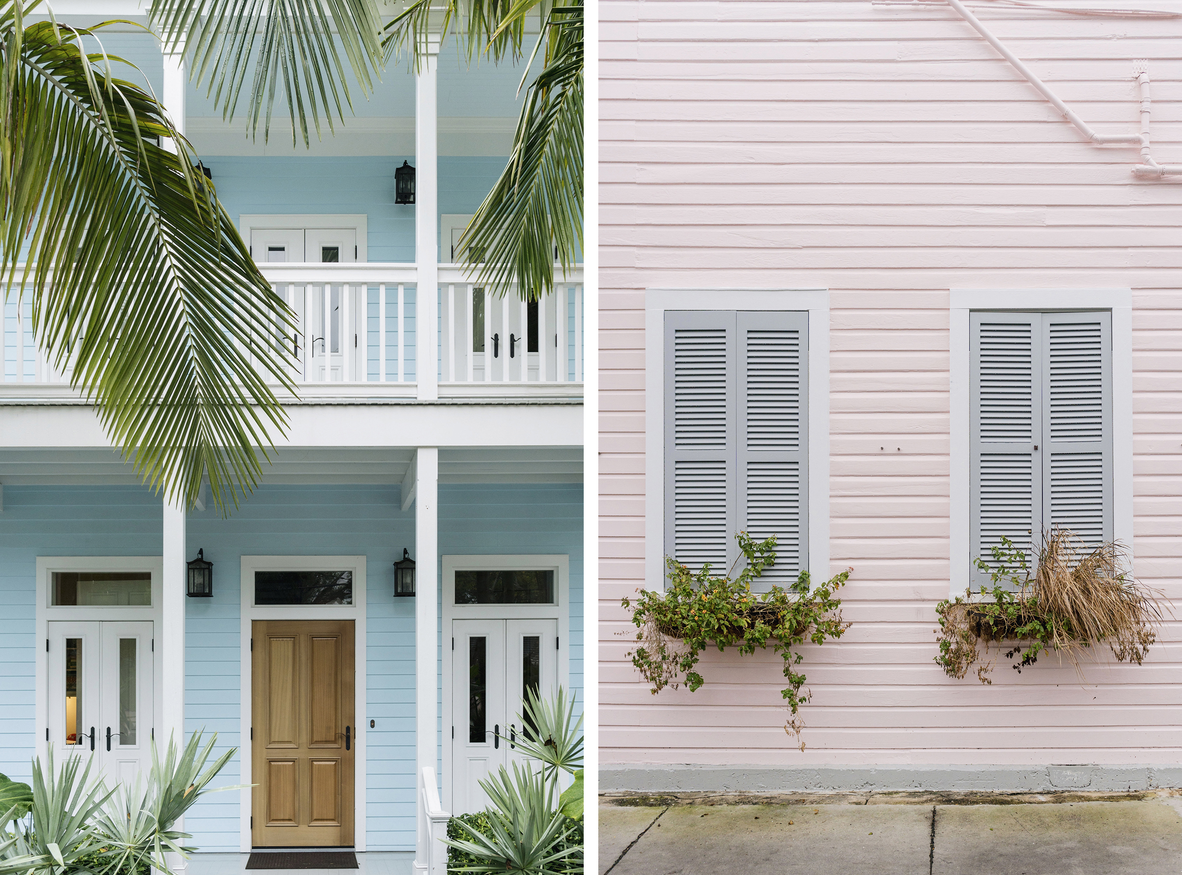 Key West pastel houses / colonial architecture - Florida Keys with young kids | Happy Grey Lucky