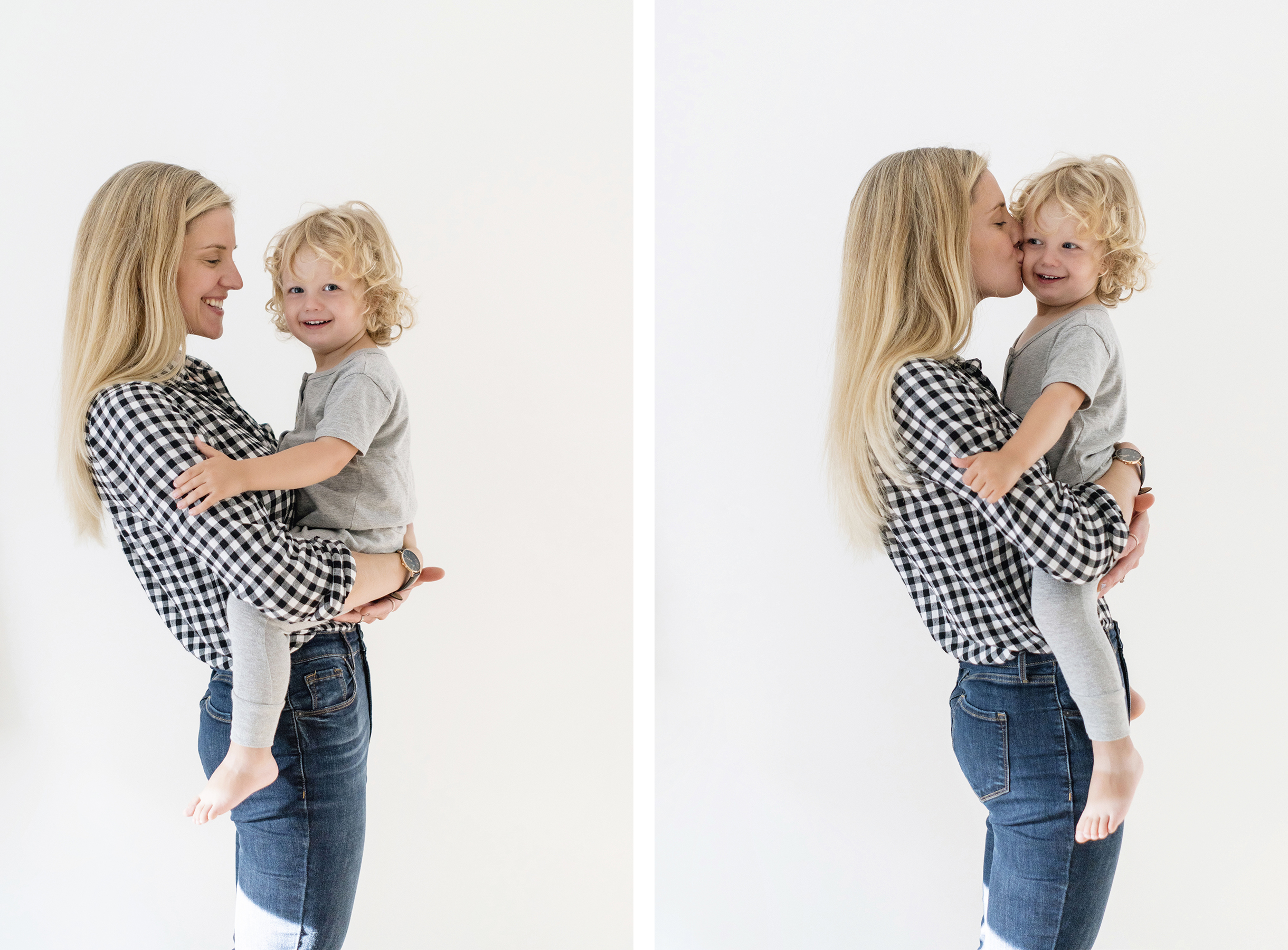 Mom and toddler snuggles, blonde hair - natural haircare tips for busy moms