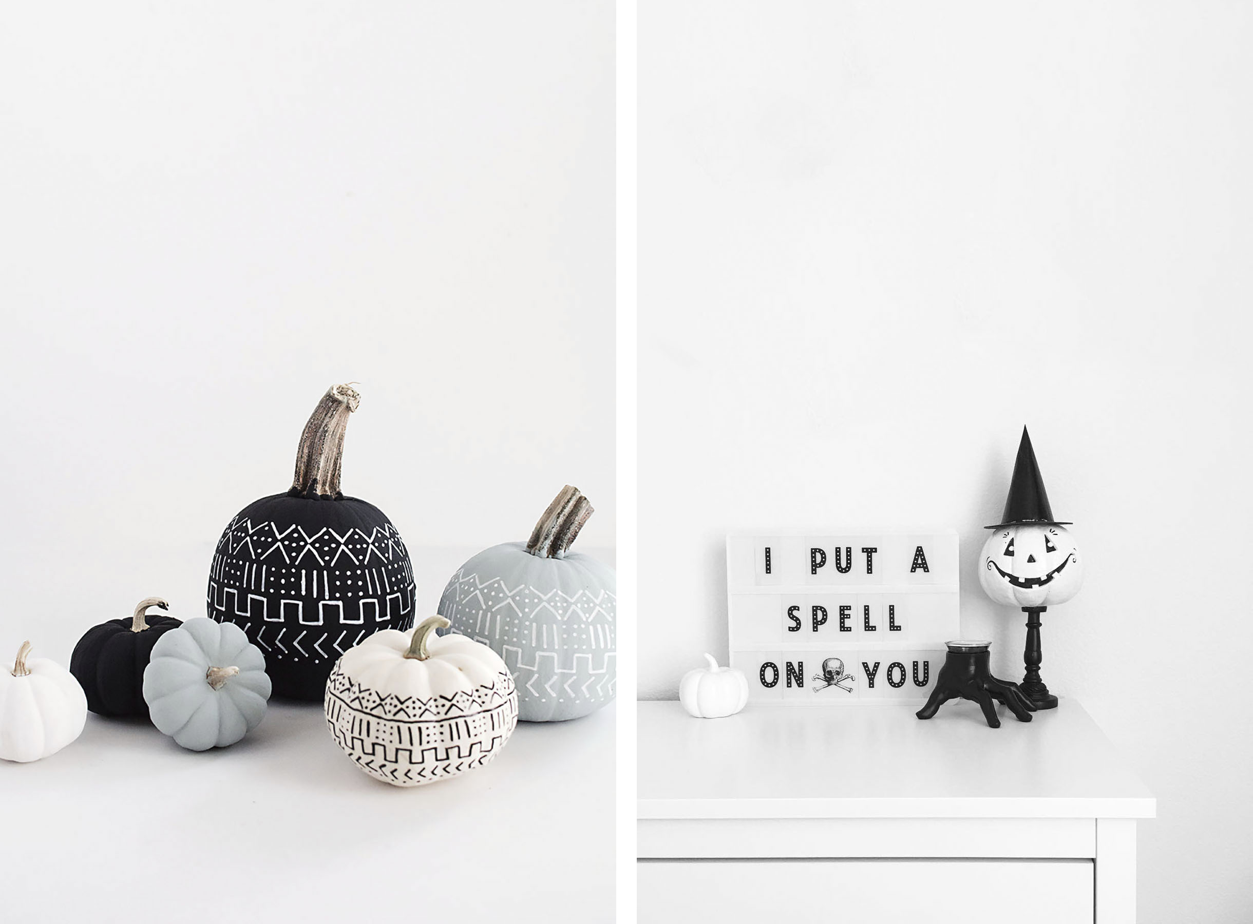 how to get that modern, scandinavian halloween look | happy grey lucky