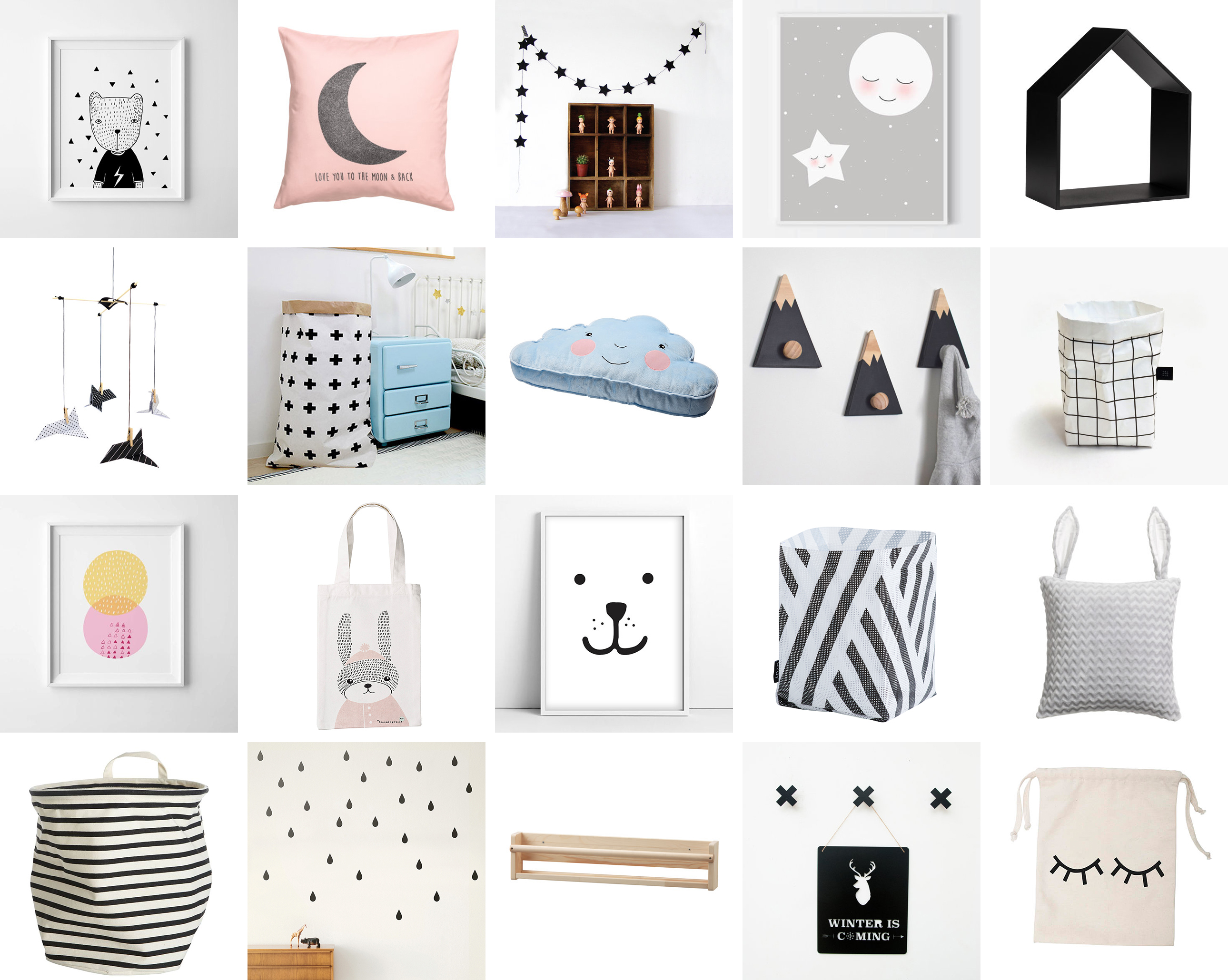 Favourite scandinavian nursery kids room decor items for Small home decor items
