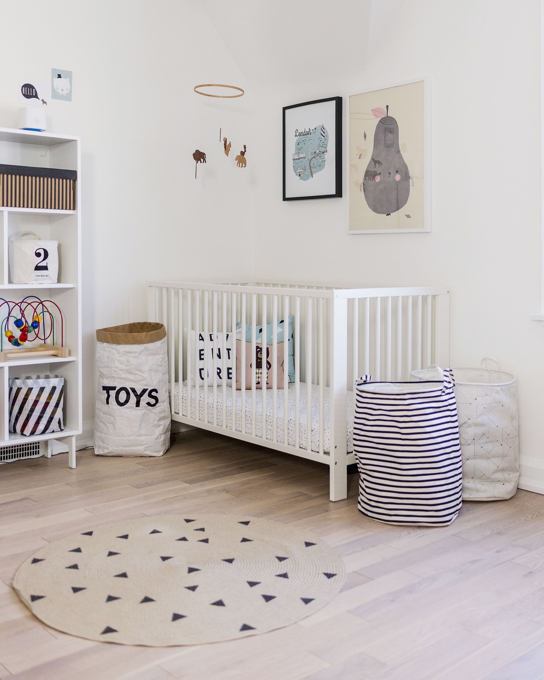 Scandinavian Baby Nursery: Favourite Scandinavian Nursery + Kids Room Decor Items