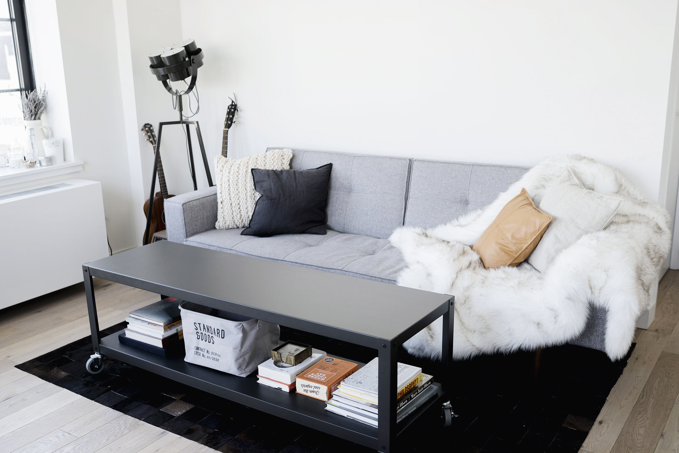 Scandinavian, industrial interior in New York City | Happy Grey Lucky