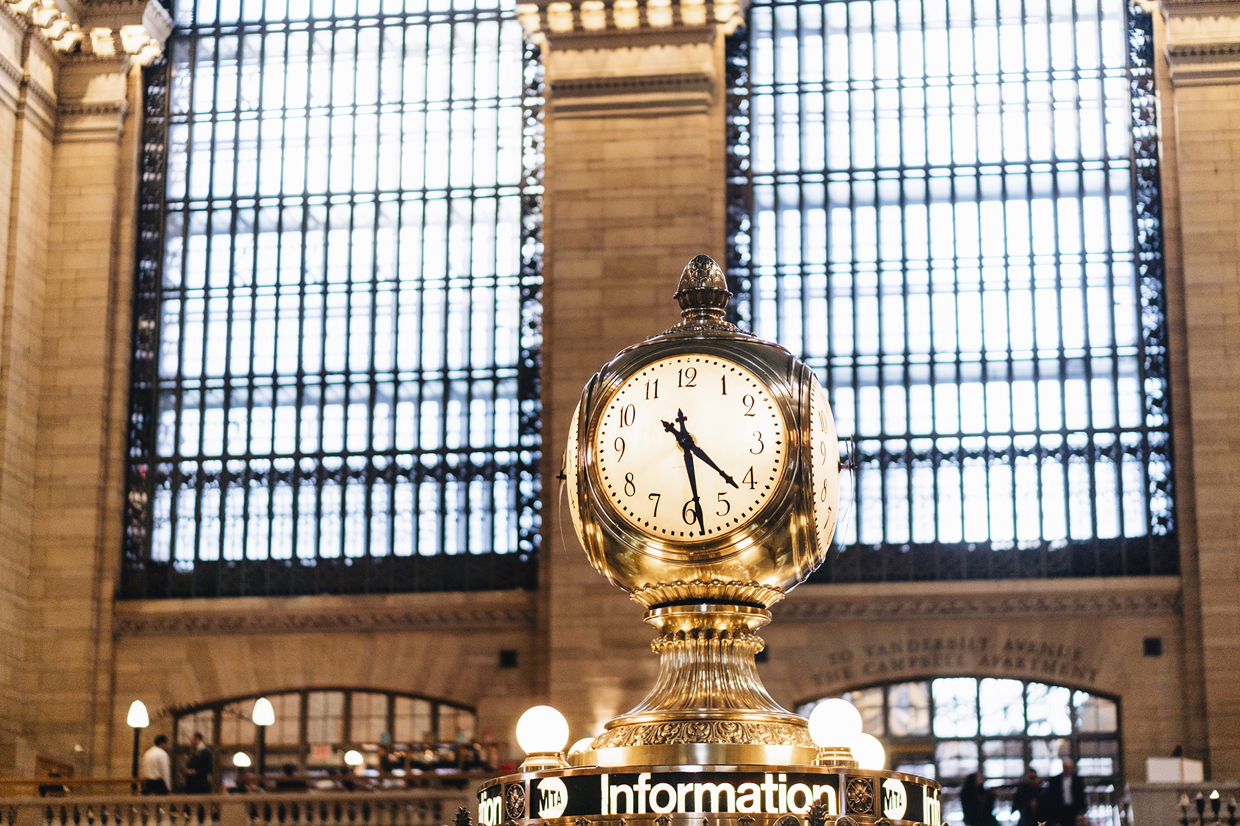 Grand Central station clock - Top 10 things to do in NYC with young kids | New York City travel guide