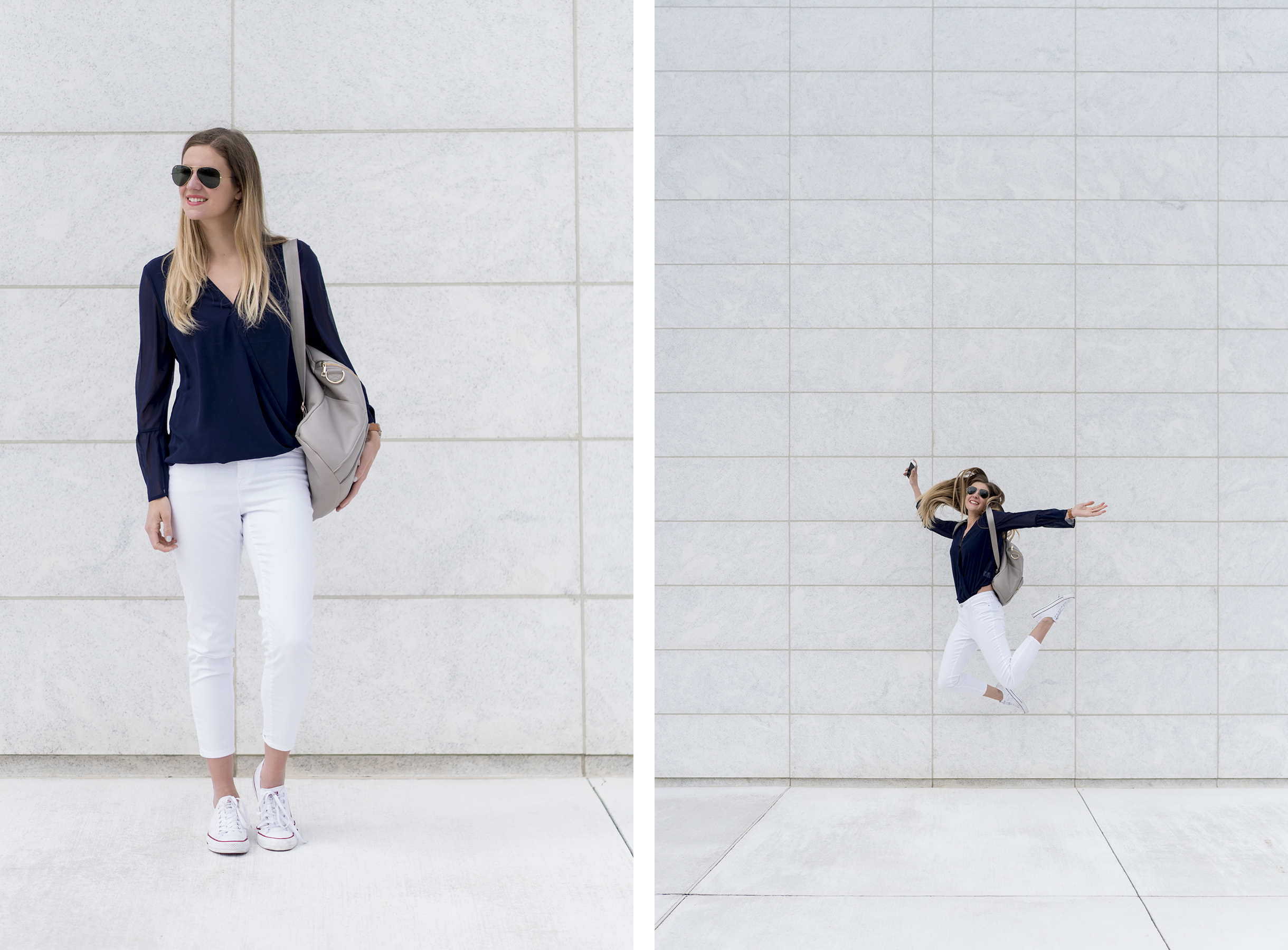 Work-at-home-mom style - from a work meeting to the playground | Happy Grey Lucky
