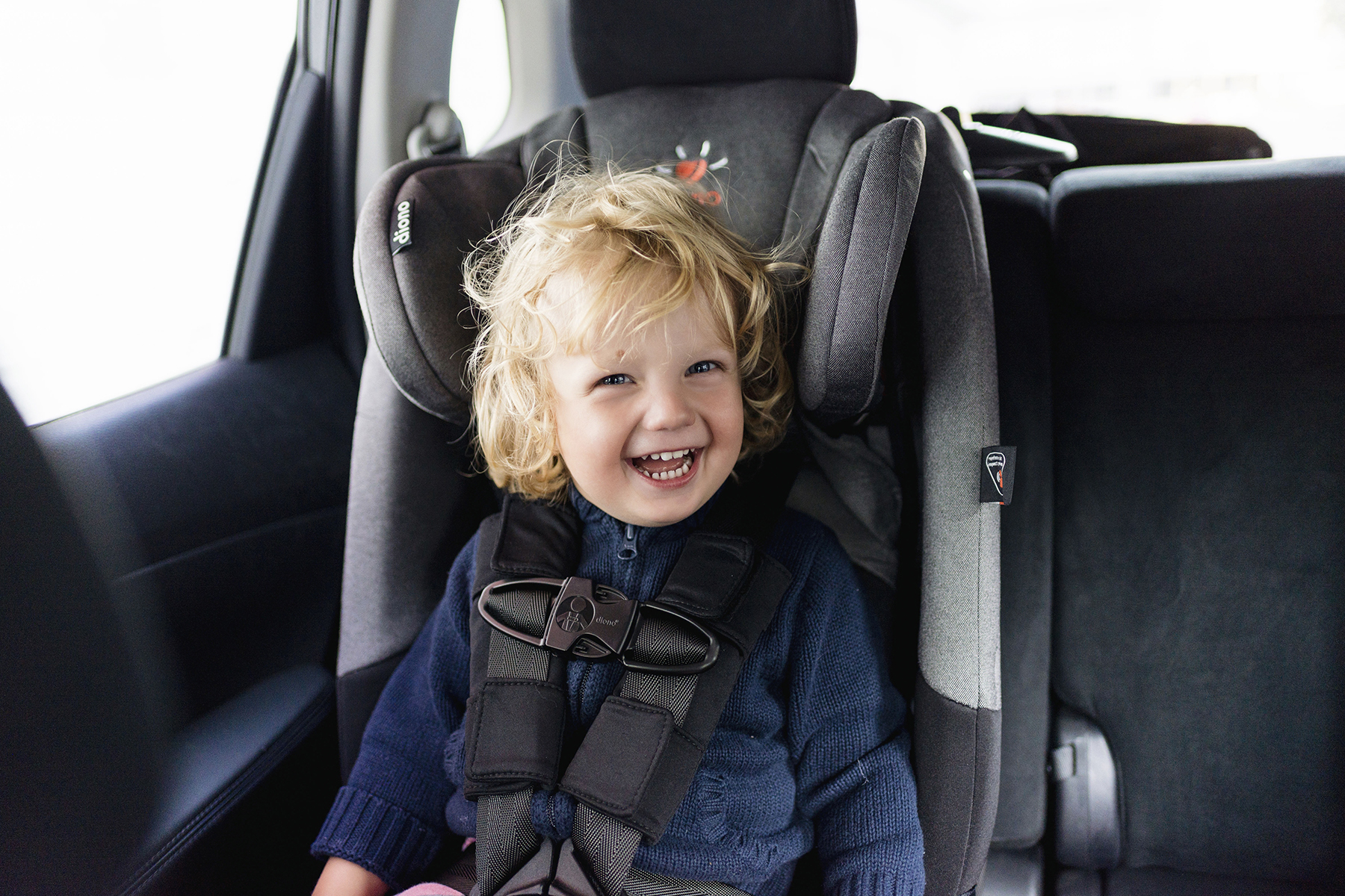 Diono Radian forward facing install | Top 10 tips for road tripping with toddlers + preschoolers